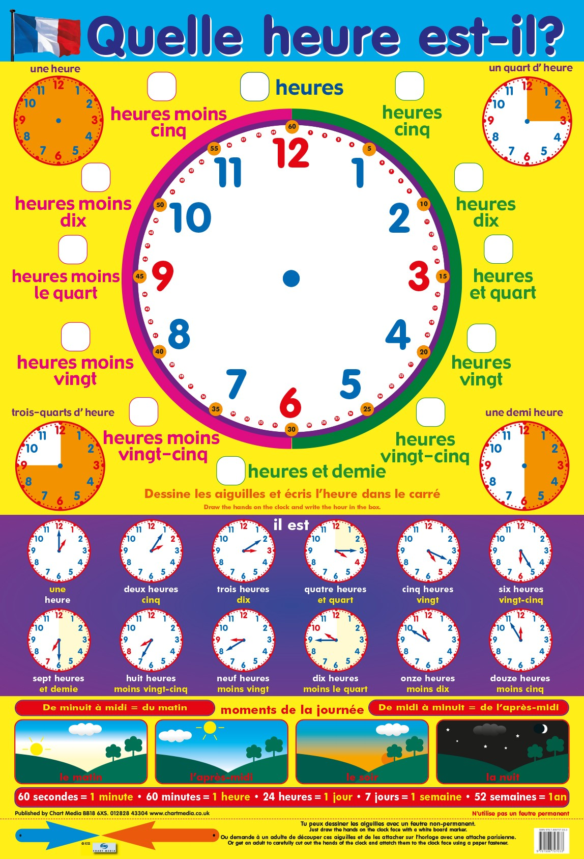 French What's The Time poster by Chart Media | Chart Media