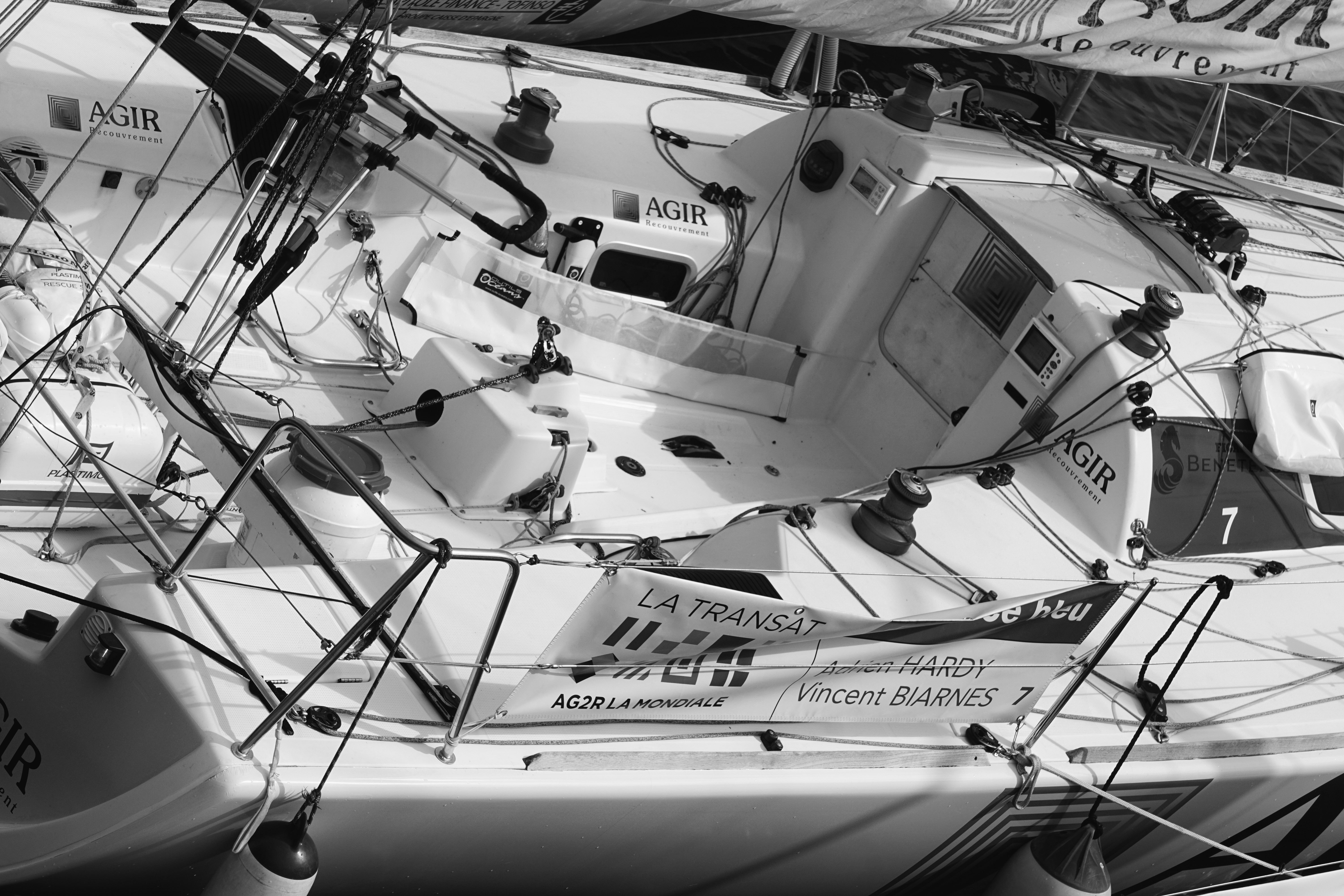 White and black boat photo