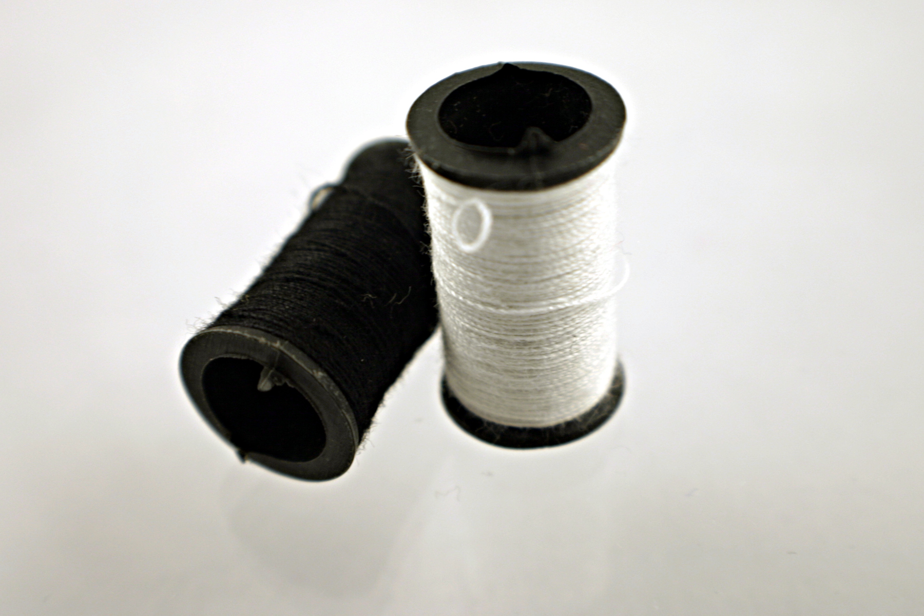 White and black thread photo