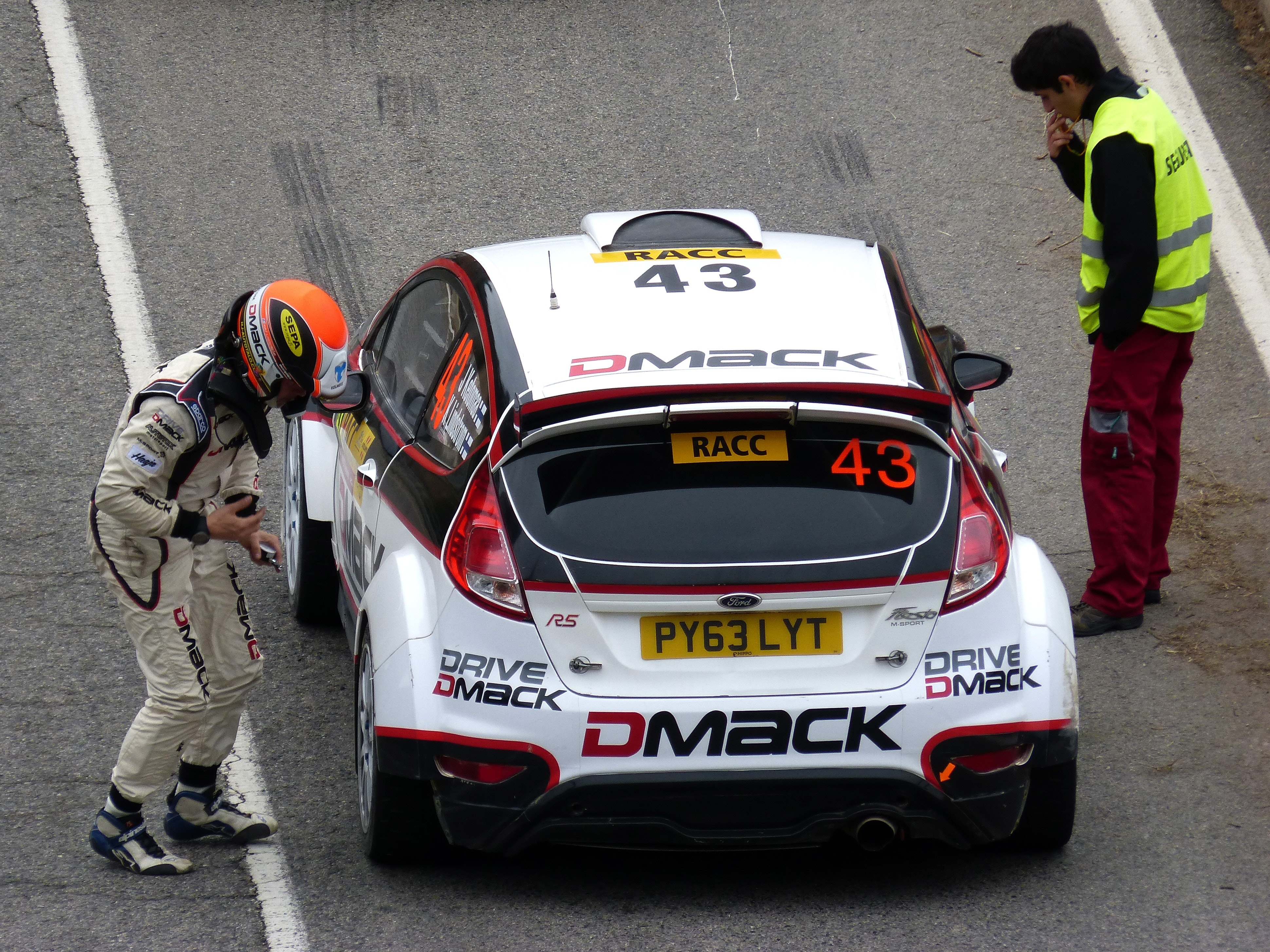 White and Red Dmack Car on Road, Auto racing, Automobile, Car, Competition, HQ Photo