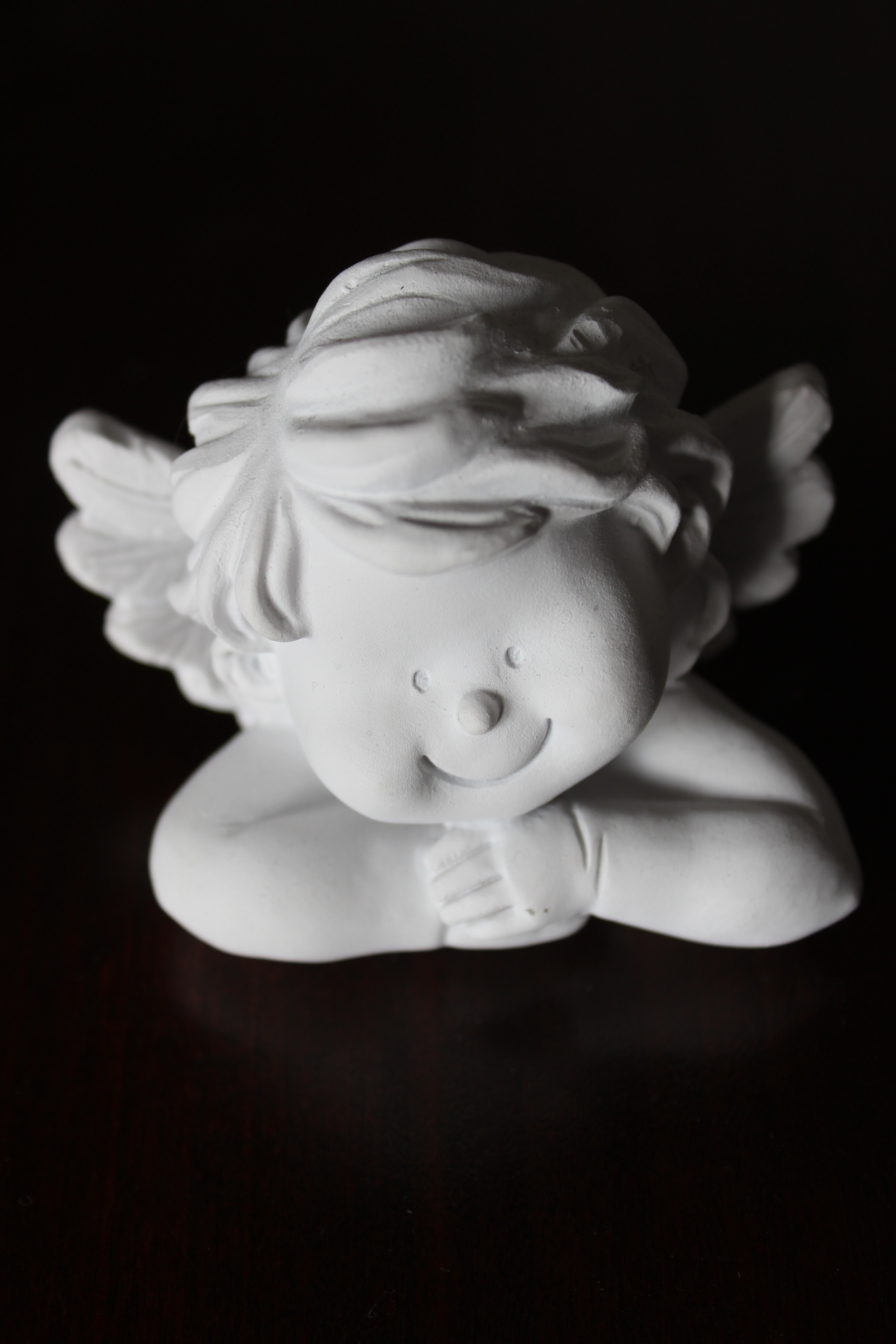 White Angel Figurine, Angel, Object, Wing, Vintage, HQ Photo