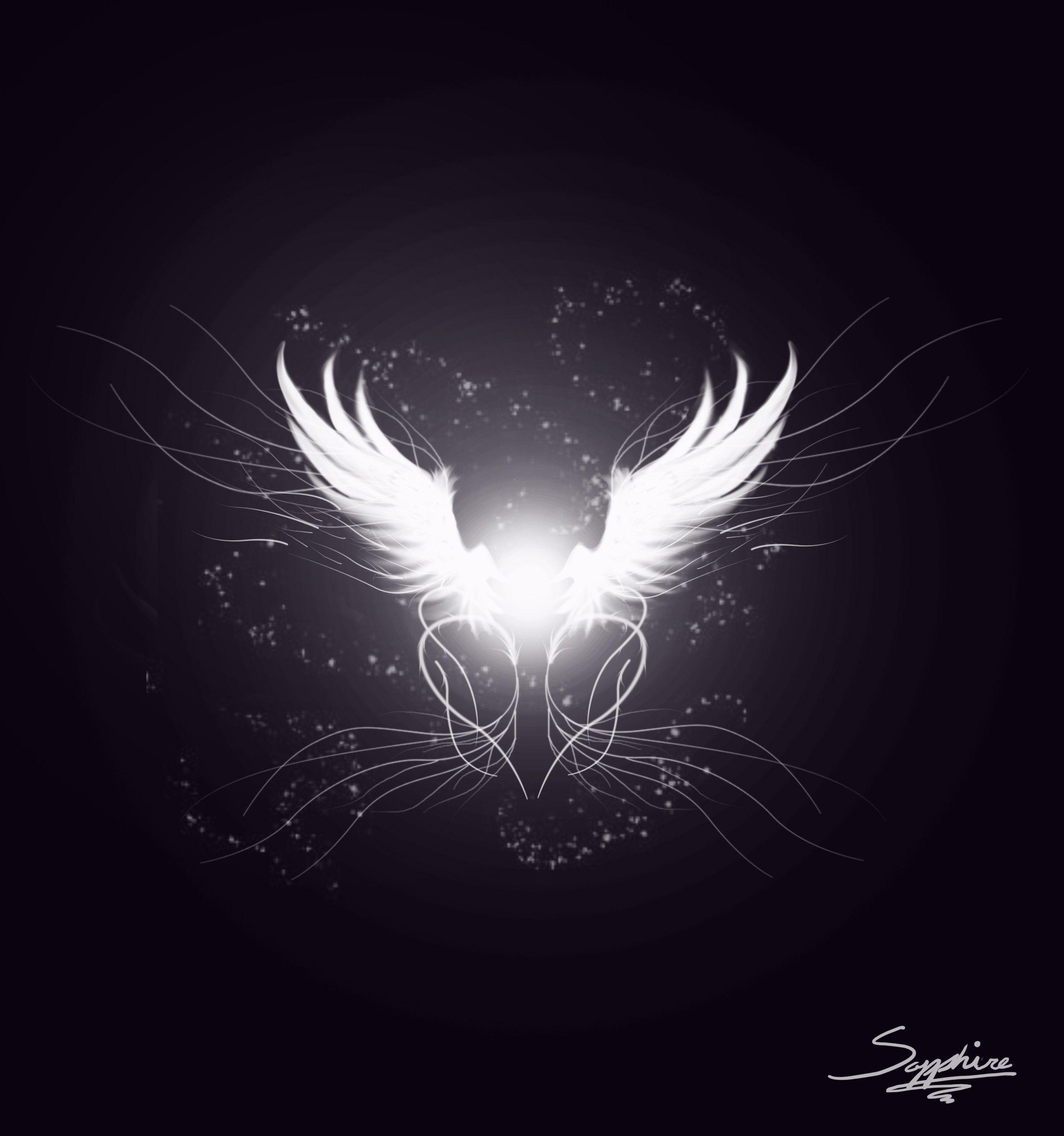 Images For > White Angel Wings Wallpaper | Angel Wings | Pinterest ...