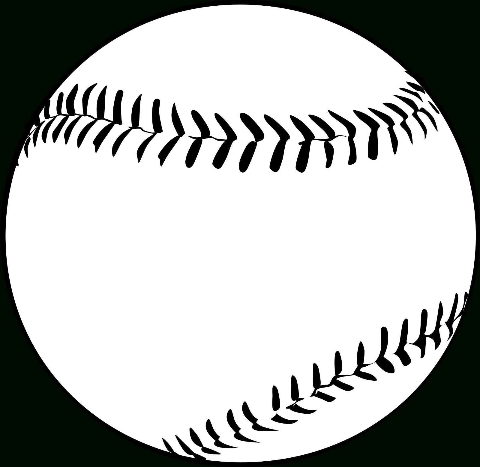 Baseball Clipart Black And White - Letters