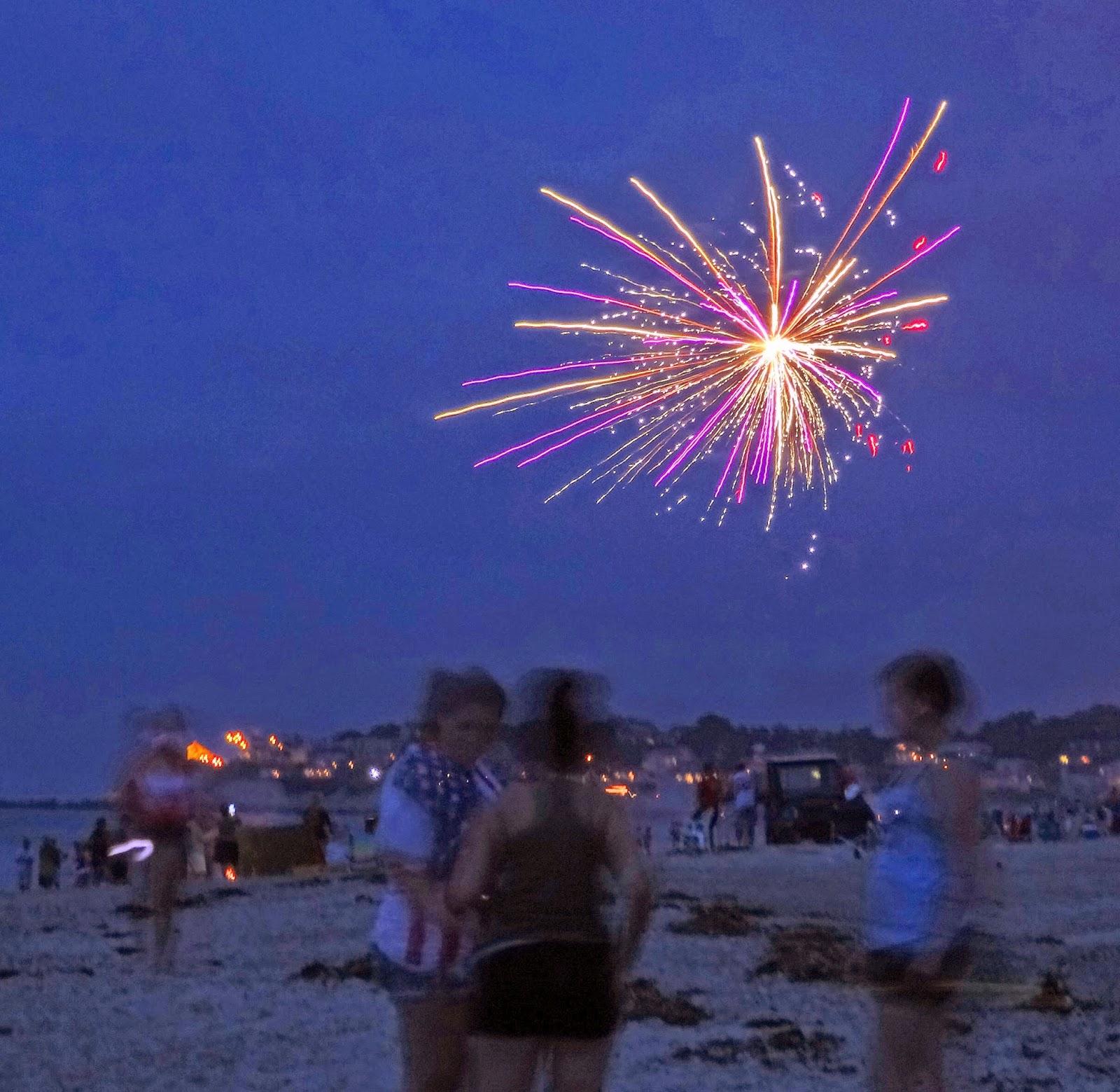 Joe's Retirement Blog: Fireworks and Bonfires, White Horse Beach ...