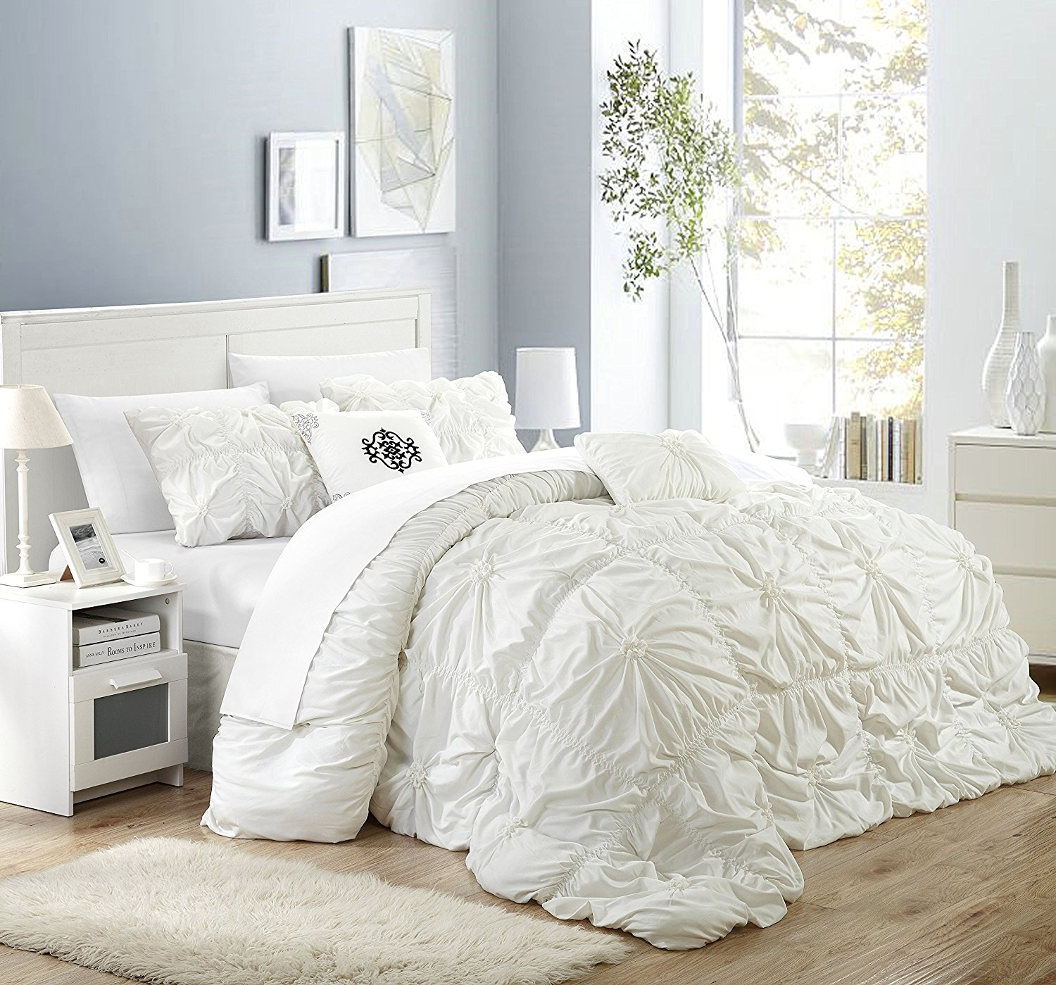 Free Photo White Bed Comforter Bed Bedroom Color Free Download Jooinn