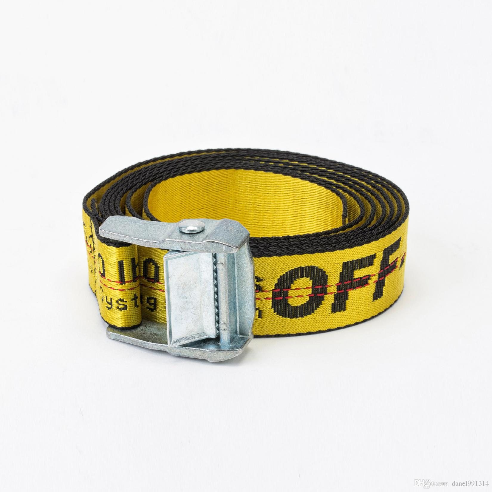 2017 New Fashion Off-White Belt for Men Or Women's Hiphop Canvas ...