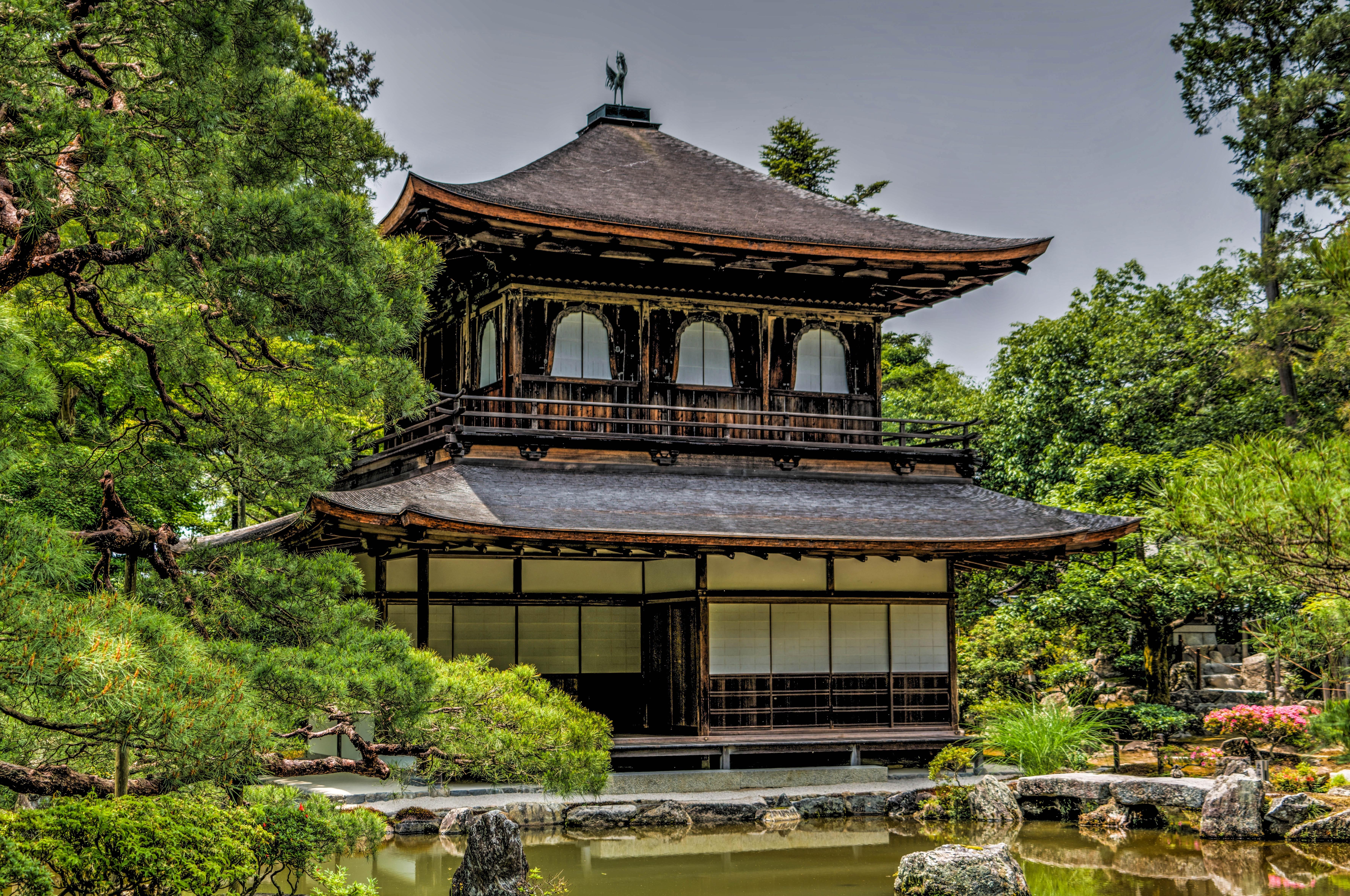 White black pagoda temple photo