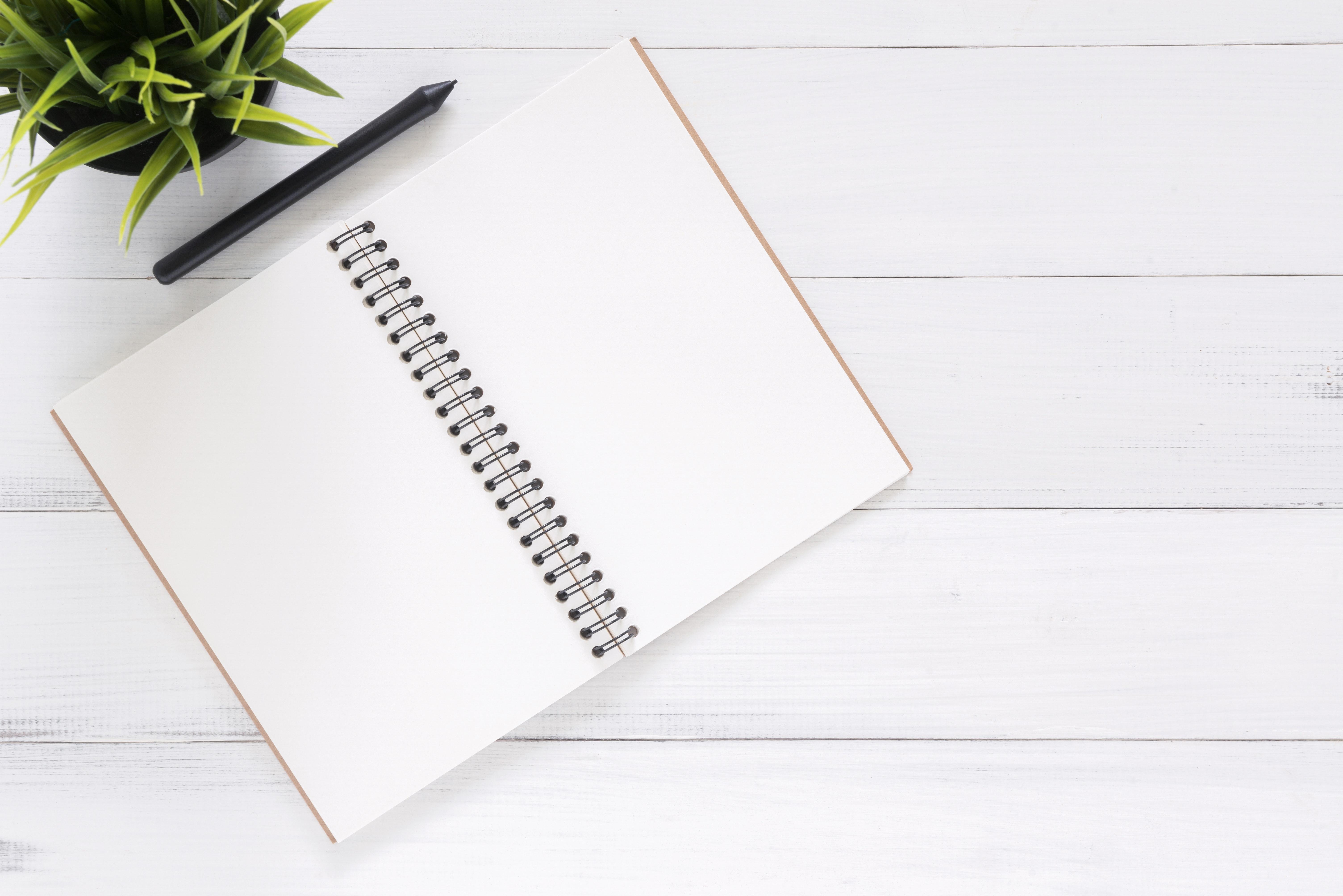 White blank notebook photo