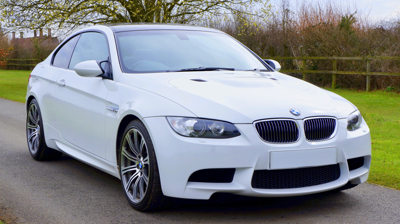 White Bmw Coupe, Asphalt, Luxury, Windshield, Wheels, HQ Photo