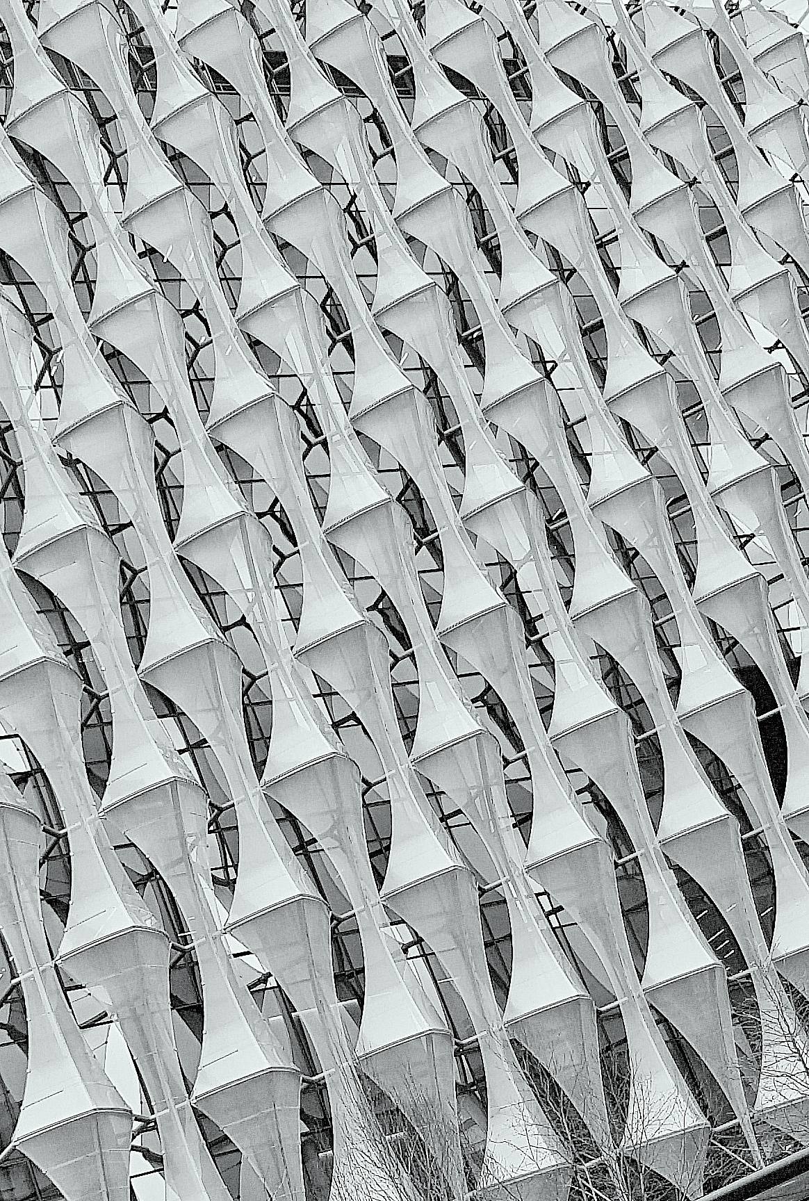 White Building, Repetition, Pattern, Rows, Shapes, HQ Photo