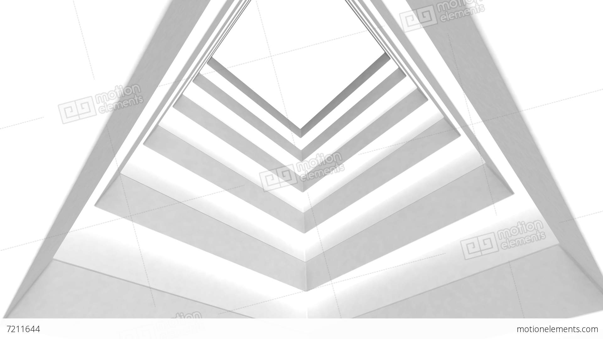Abstract White Building On A White Background Stock Animation | 7211644