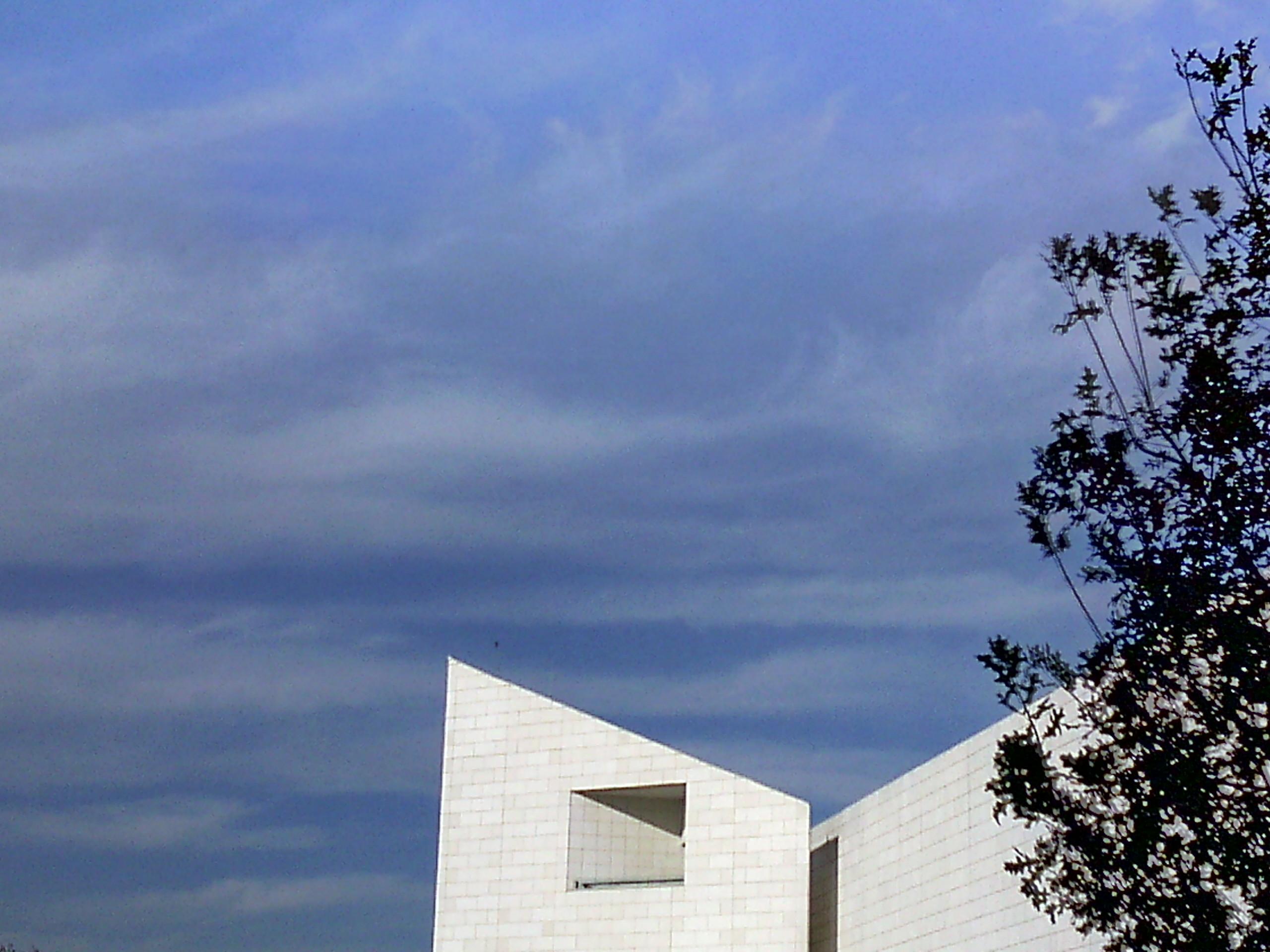White building, Architecture, Blue, Building, Corners, HQ Photo