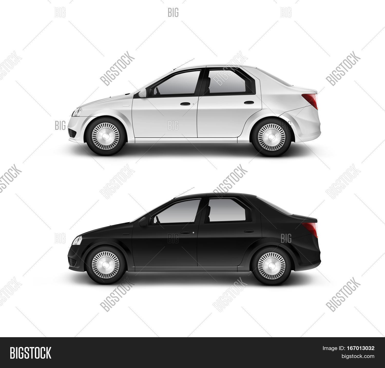 White car isolated photo