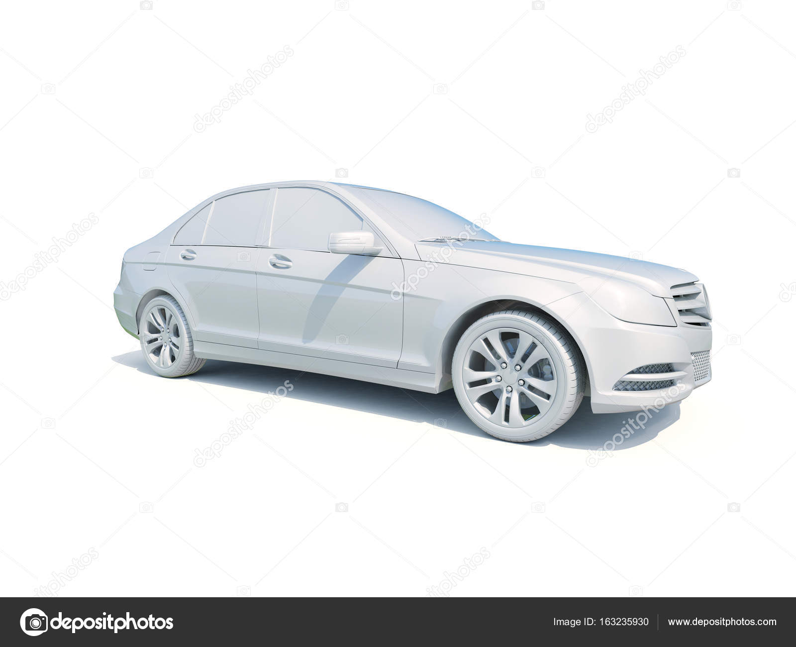 White car isolated photo