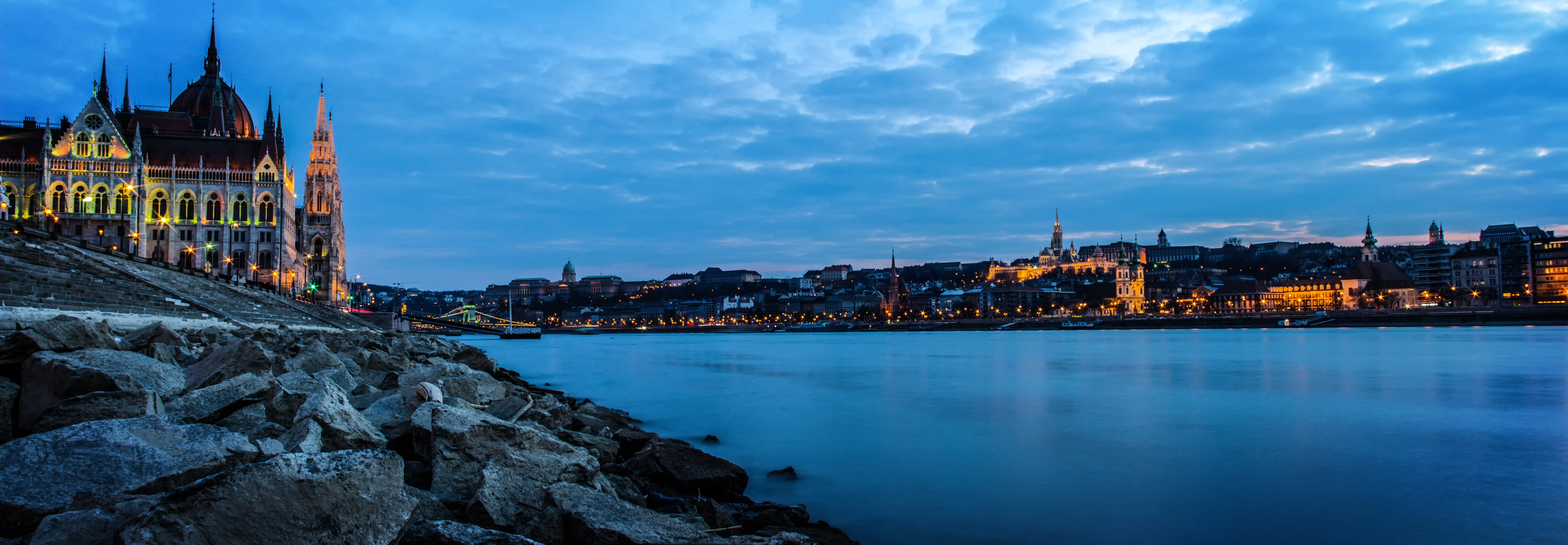 White Castle Beside Body of Water, Budapest, City, Cityscape, Clouds, HQ Photo