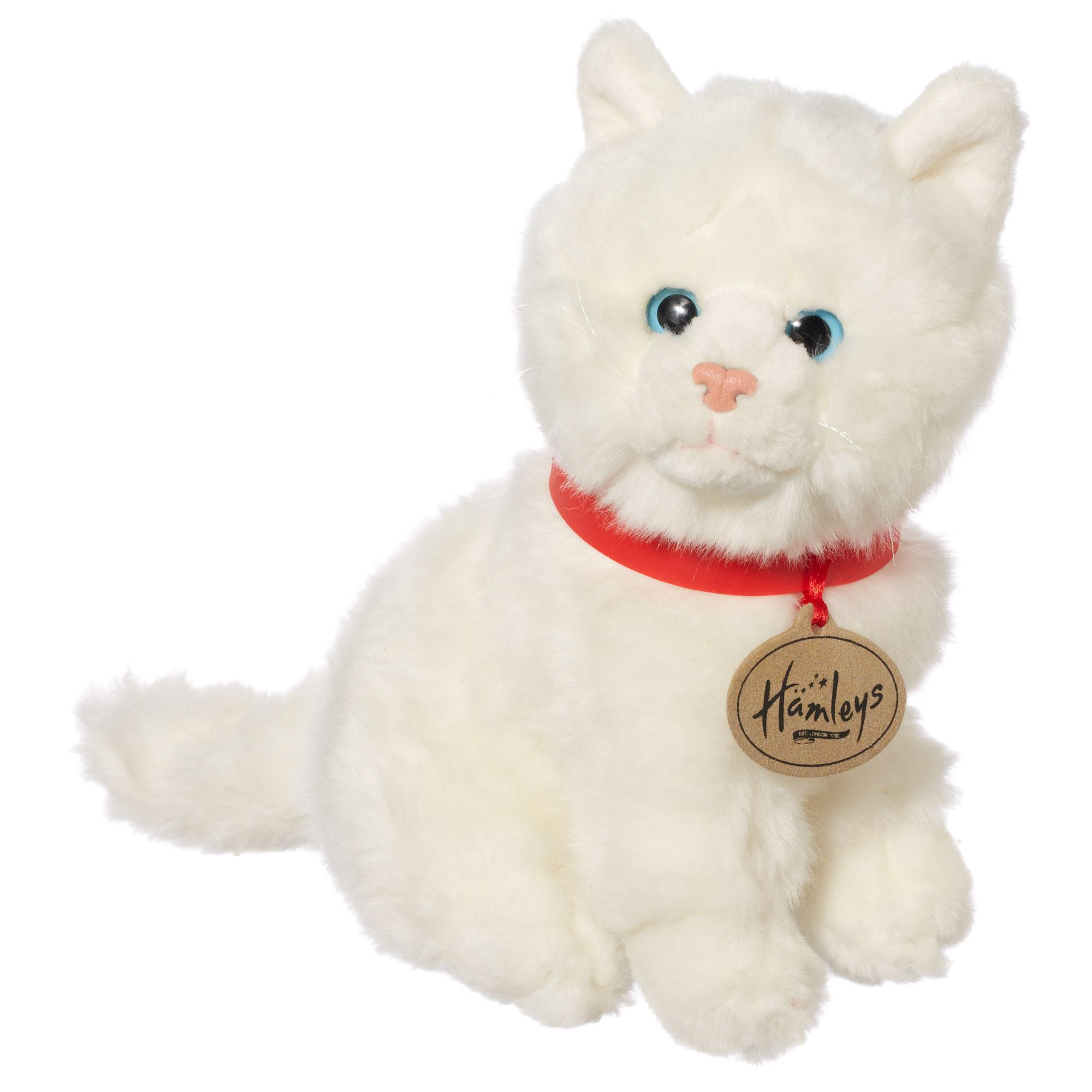 Hamleys Sitting White Cat Soft Toy - £15.00 - Hamleys for Toys and Games