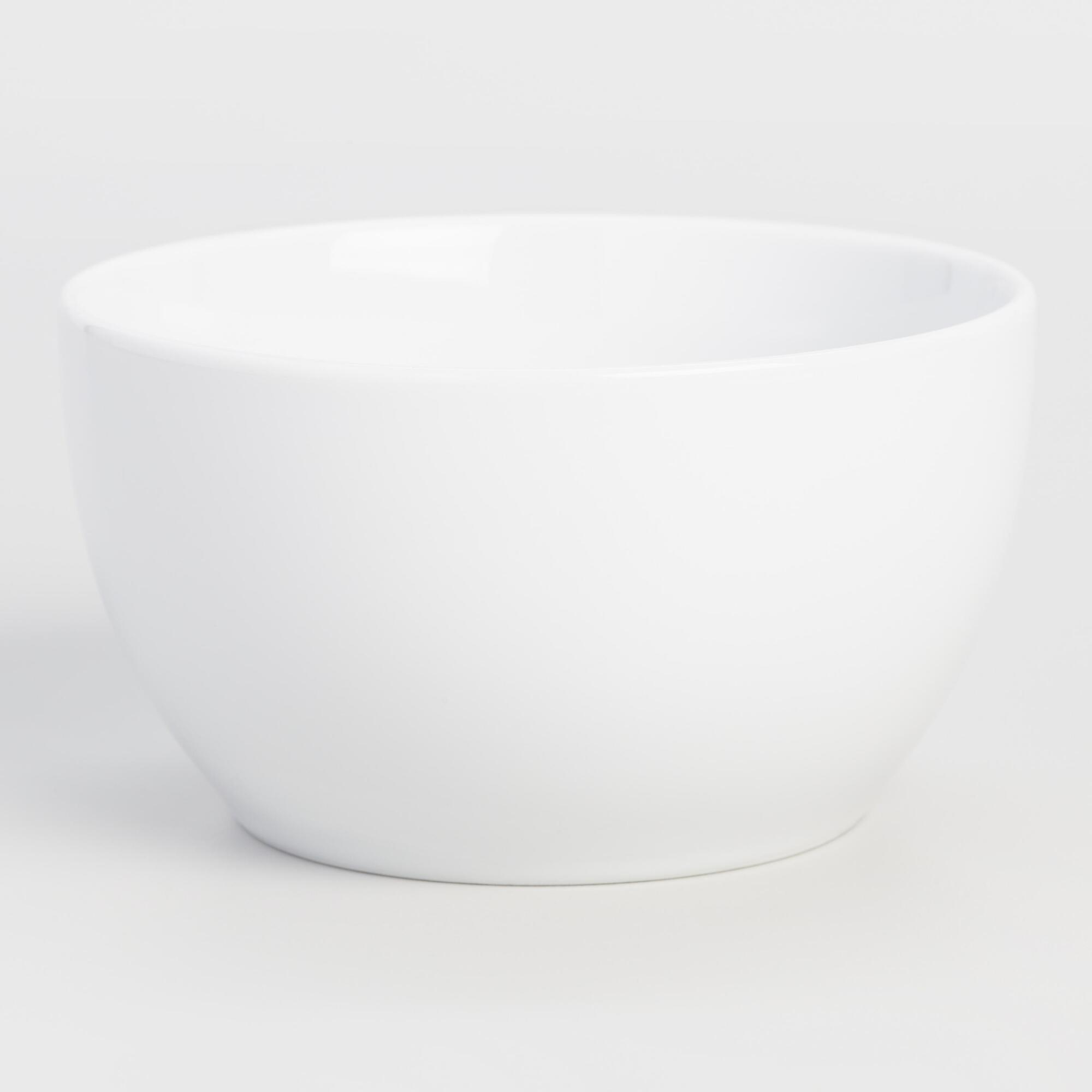 White Coupe Cereal Bowls, set of 4 | World Market