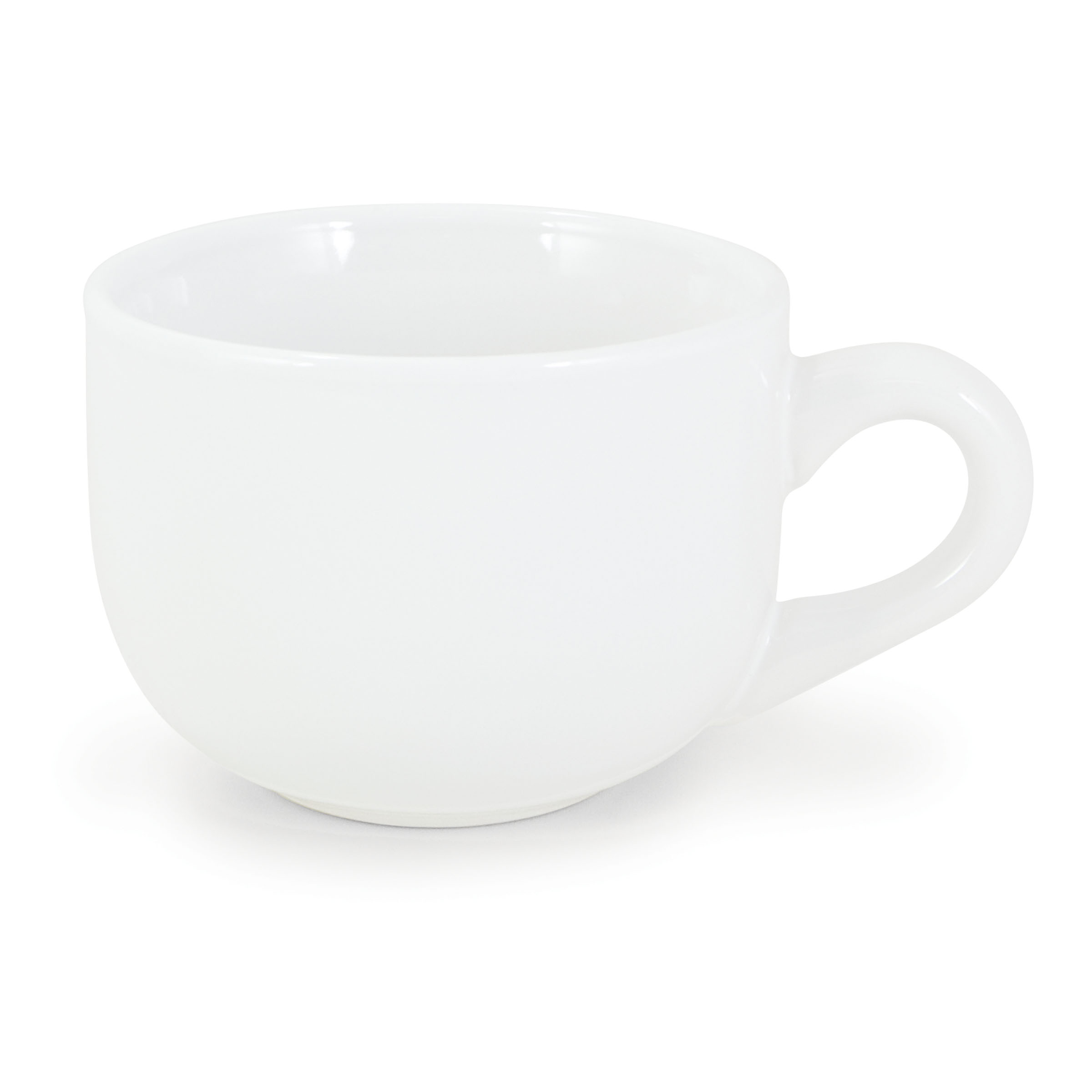 Numo - Latte Mug 16 Ounces White Ceramic