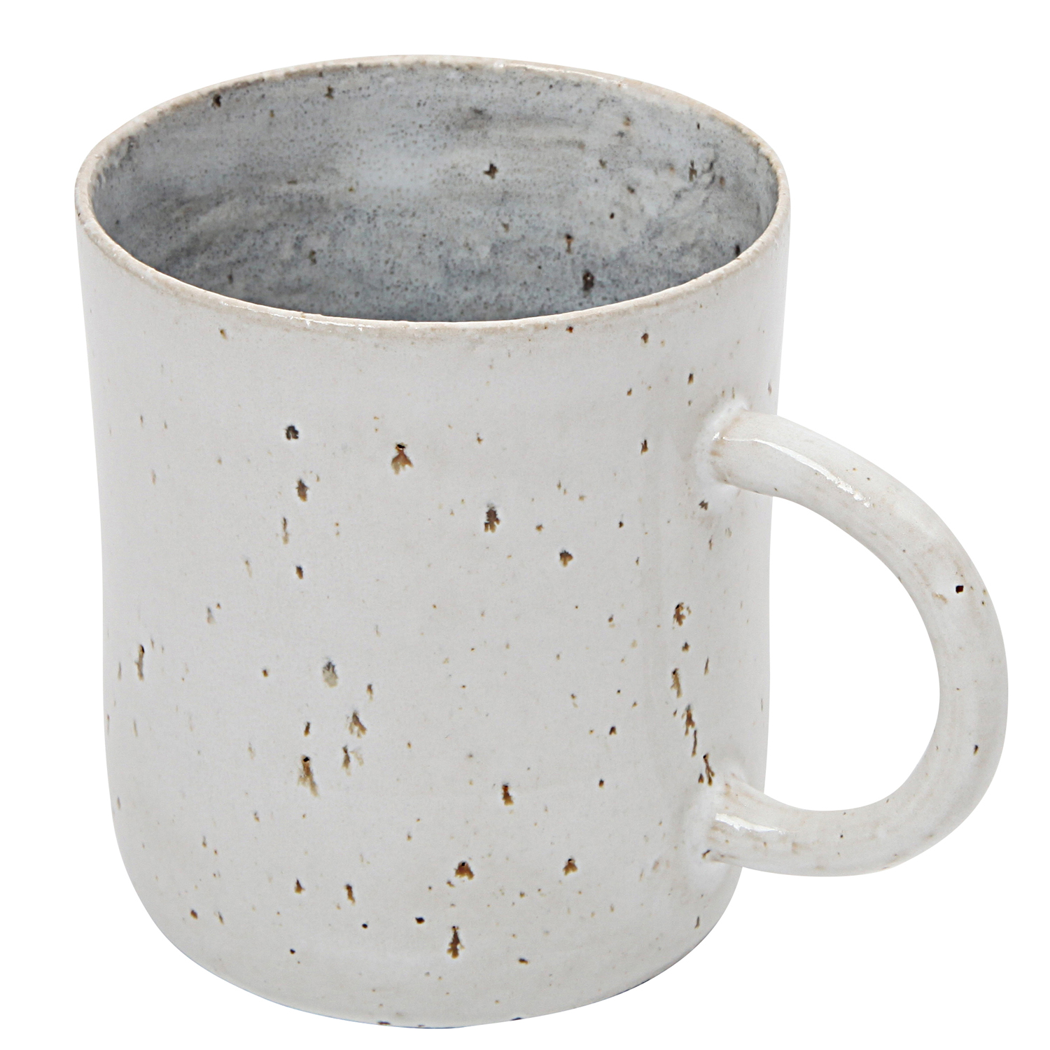 Tasja P. ceramics - Ceramic handmade mug with handle, white, grey ...