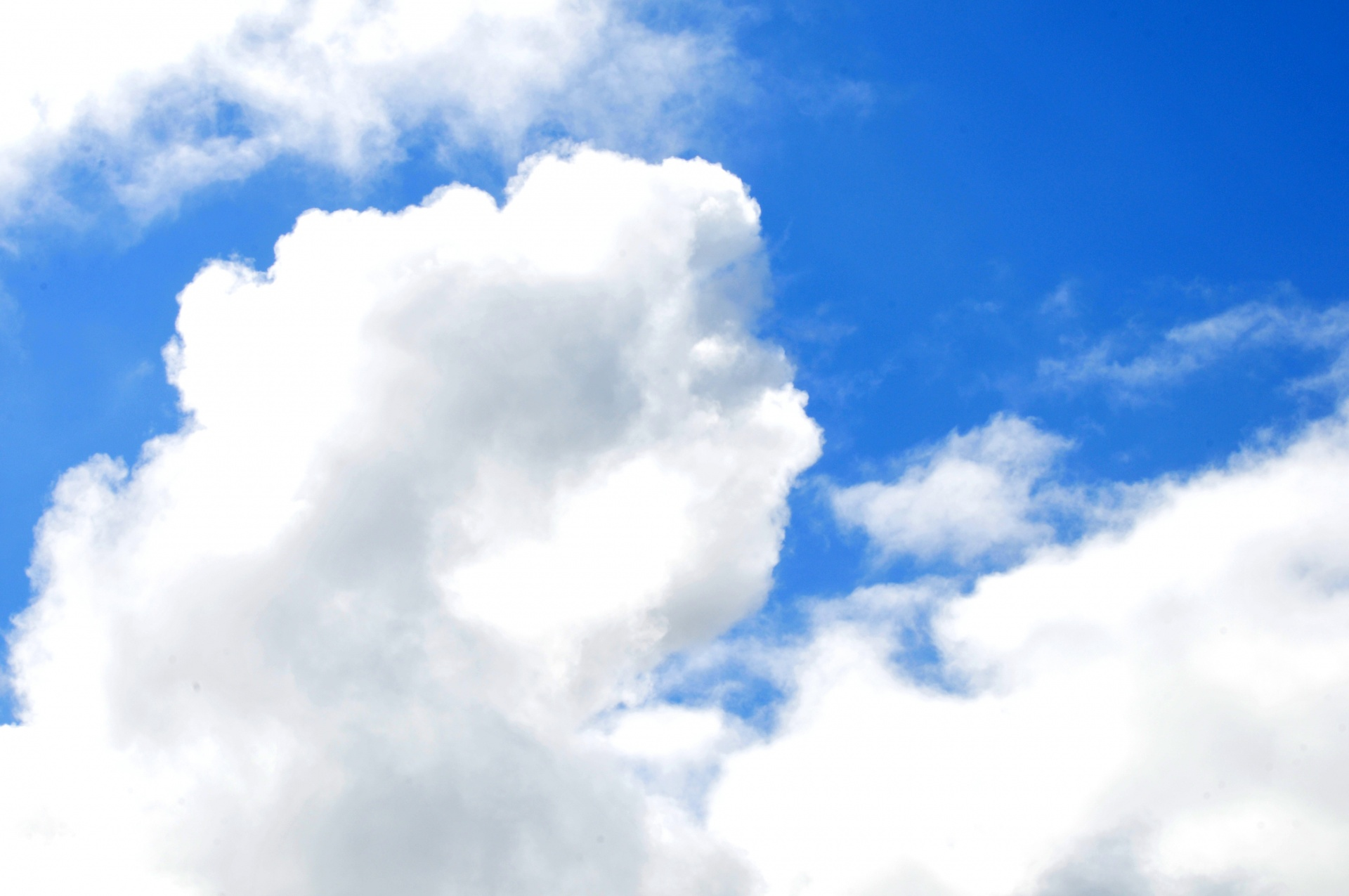 Puffy White Clouds Free Stock Photo - Public Domain Pictures