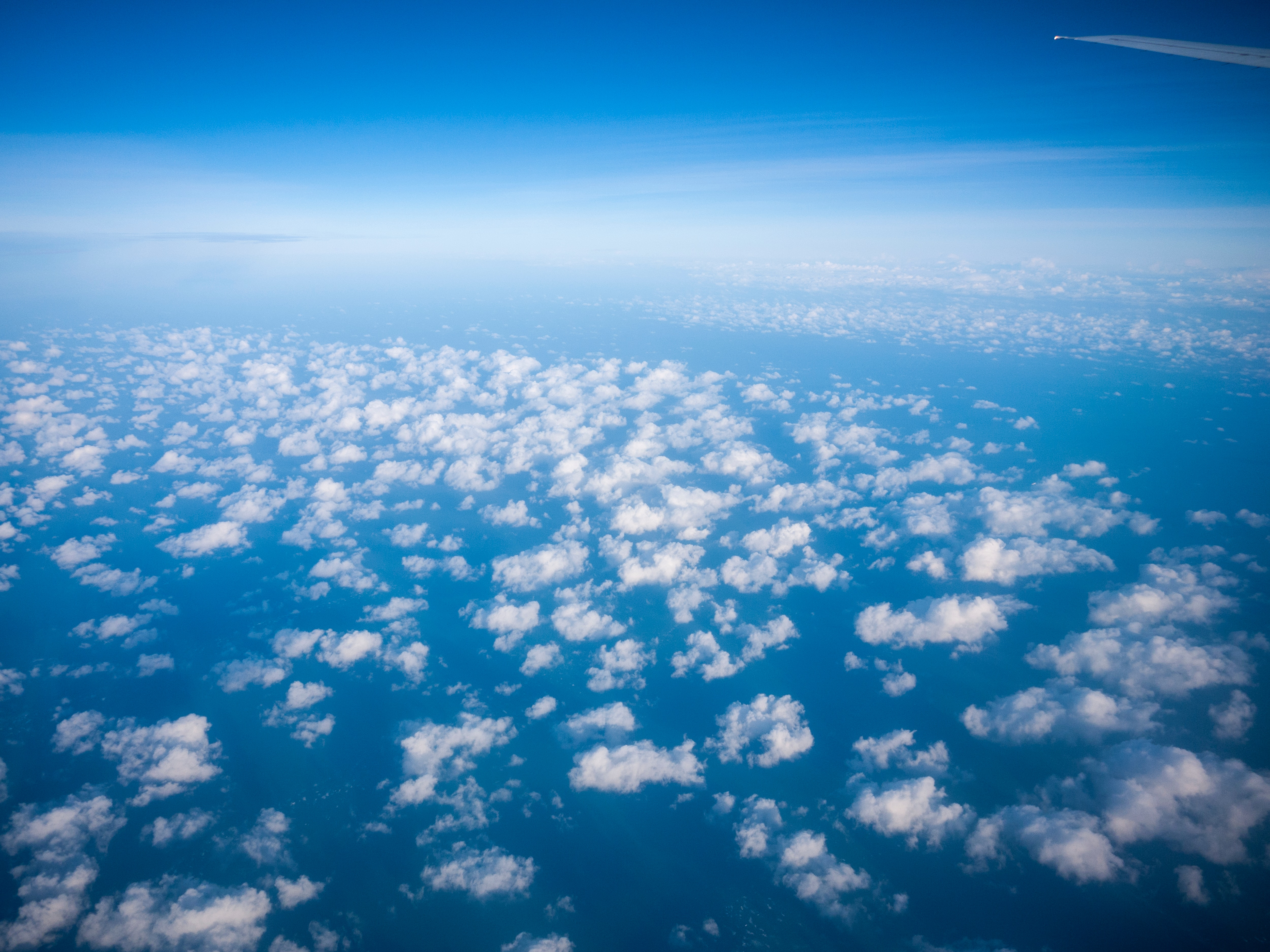 White Clouds And Blue Sky, Airplane, Atmosphere, Clouds, Daylight, HQ Photo