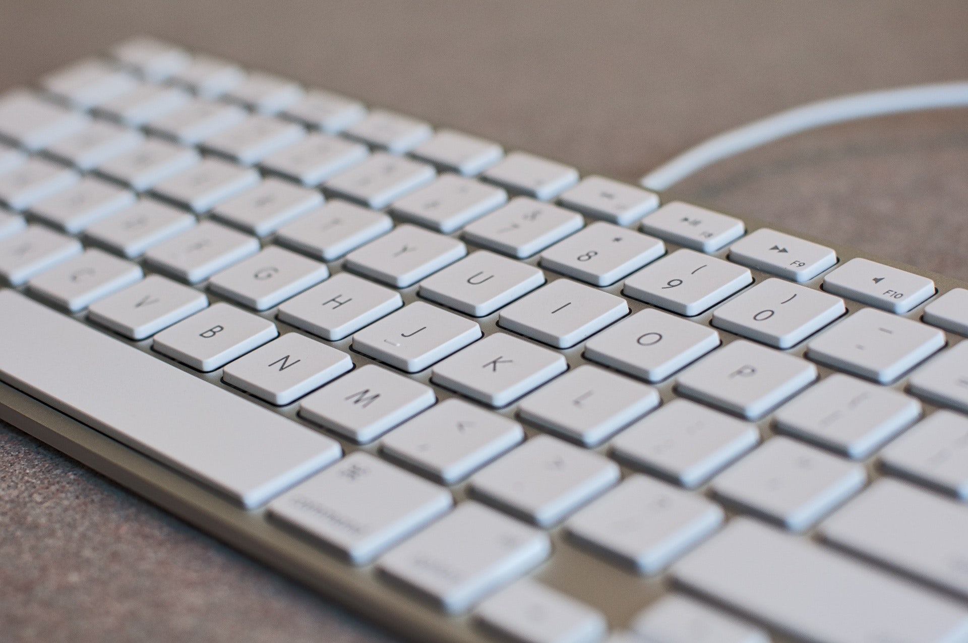 White computer keyboard photo