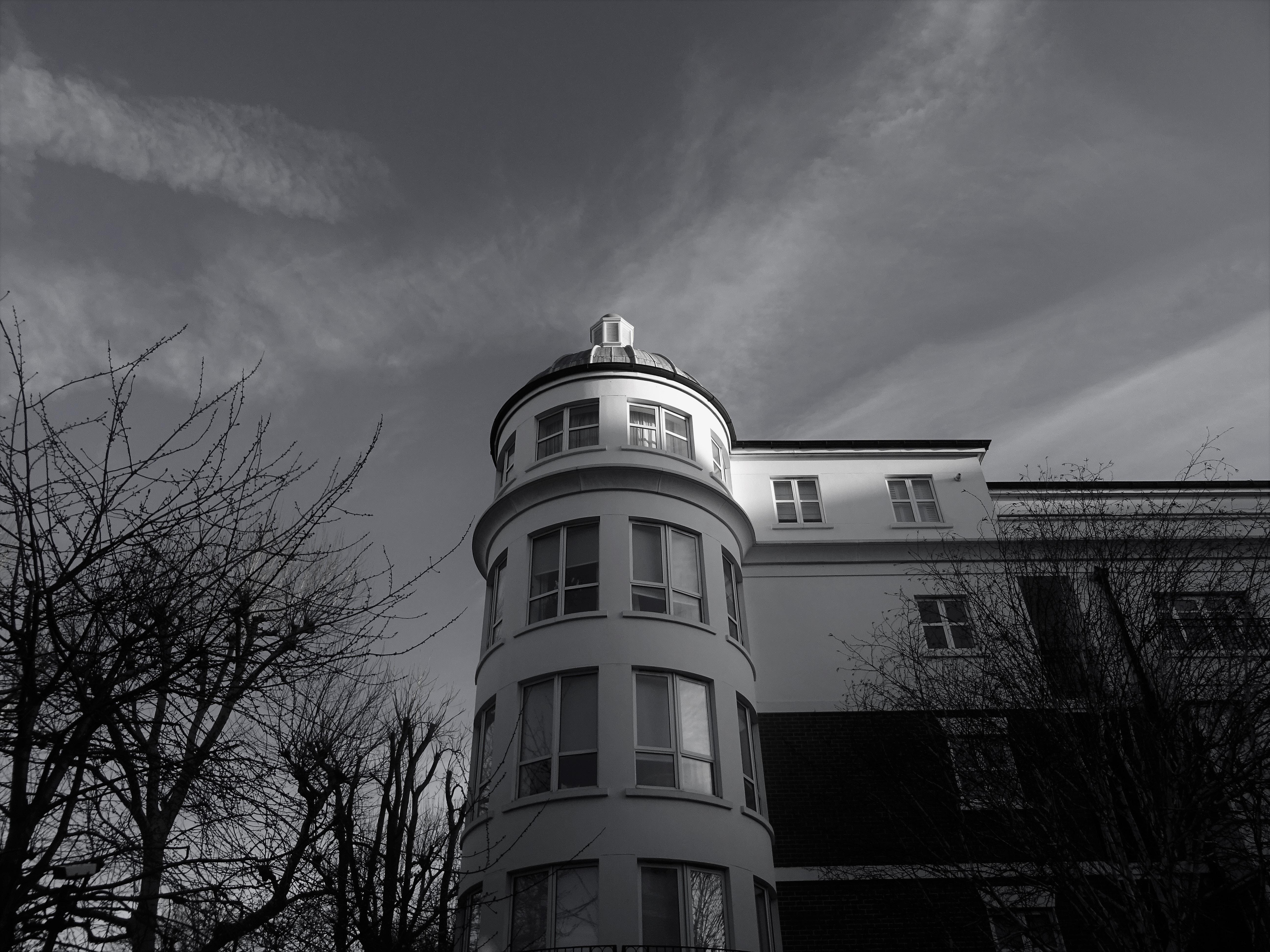 White concrete building photo