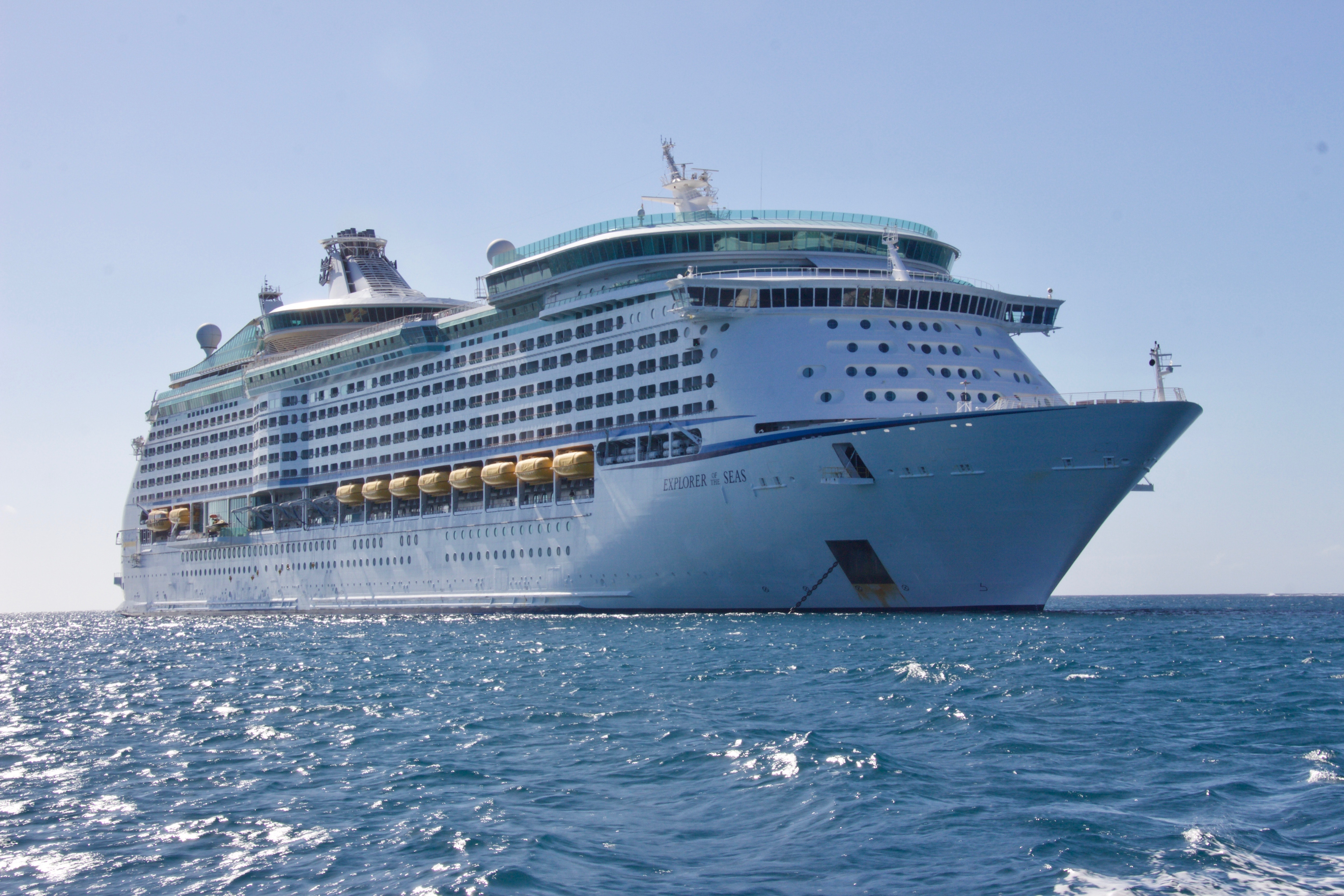 White Cruise Ship, Clouds, Ship, Watercraft, Water, HQ Photo