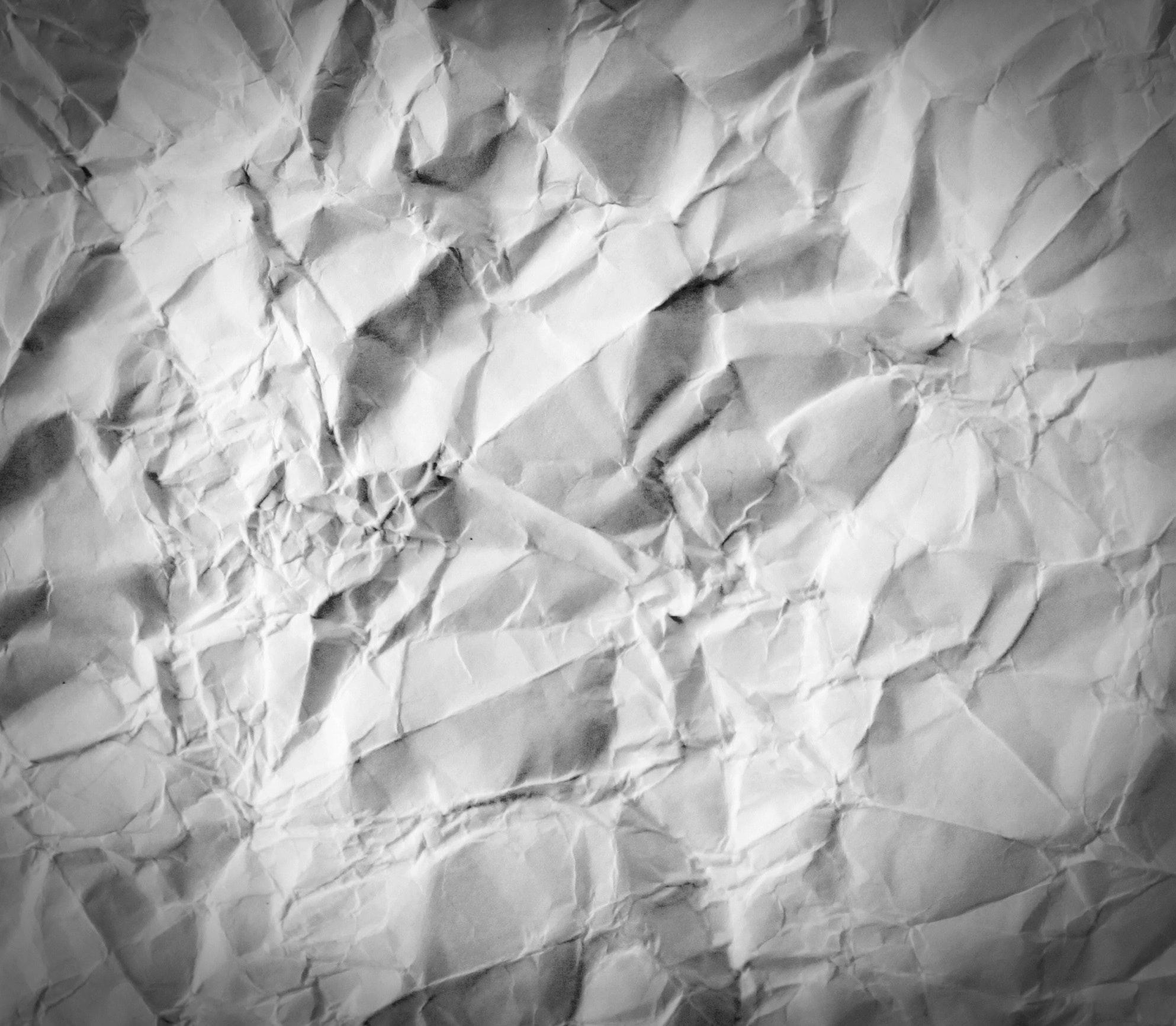 White crumpled paper photo