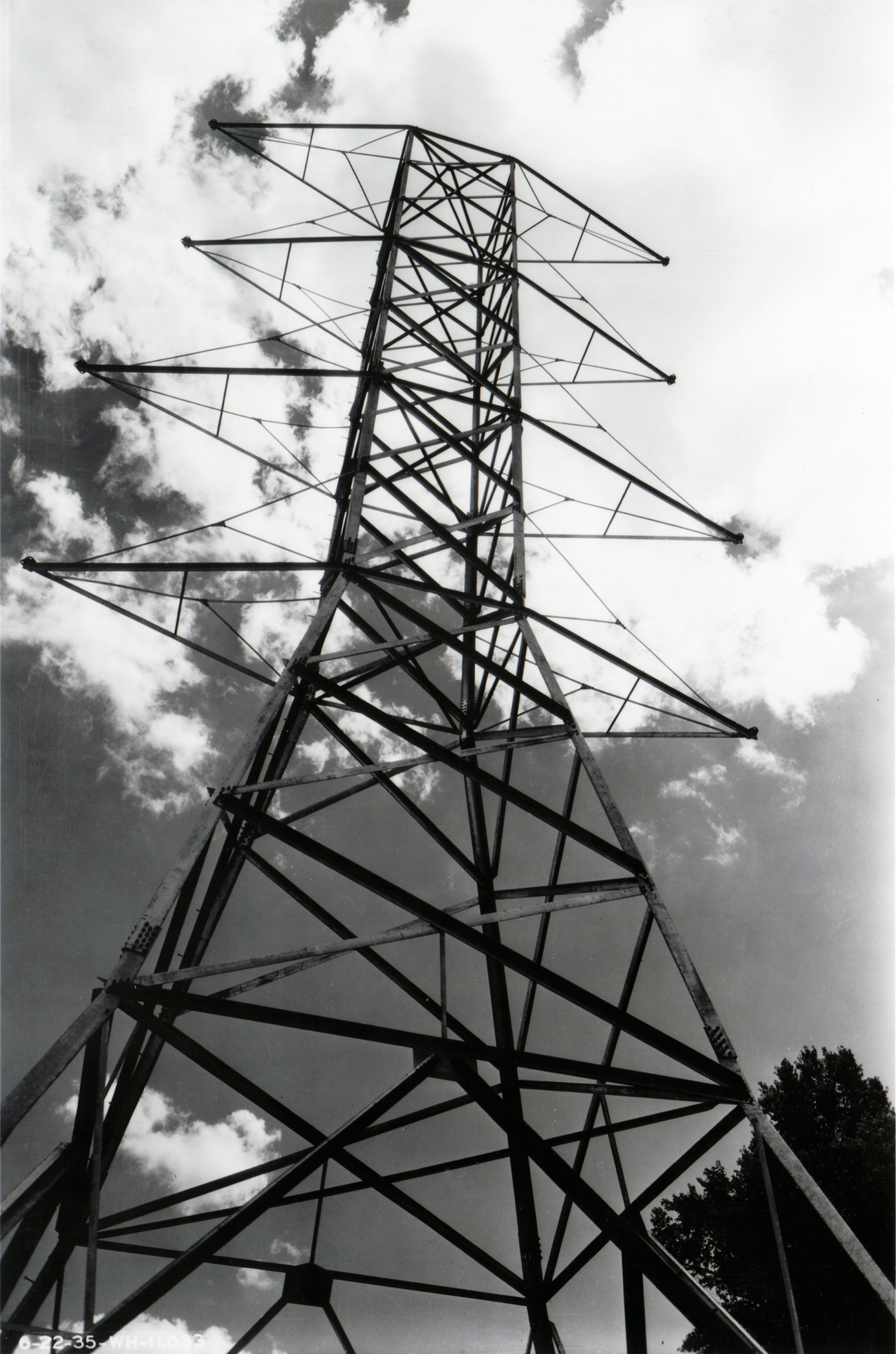 Electric Power Line Tower, Tennessee Valley Authority, 1938 ...