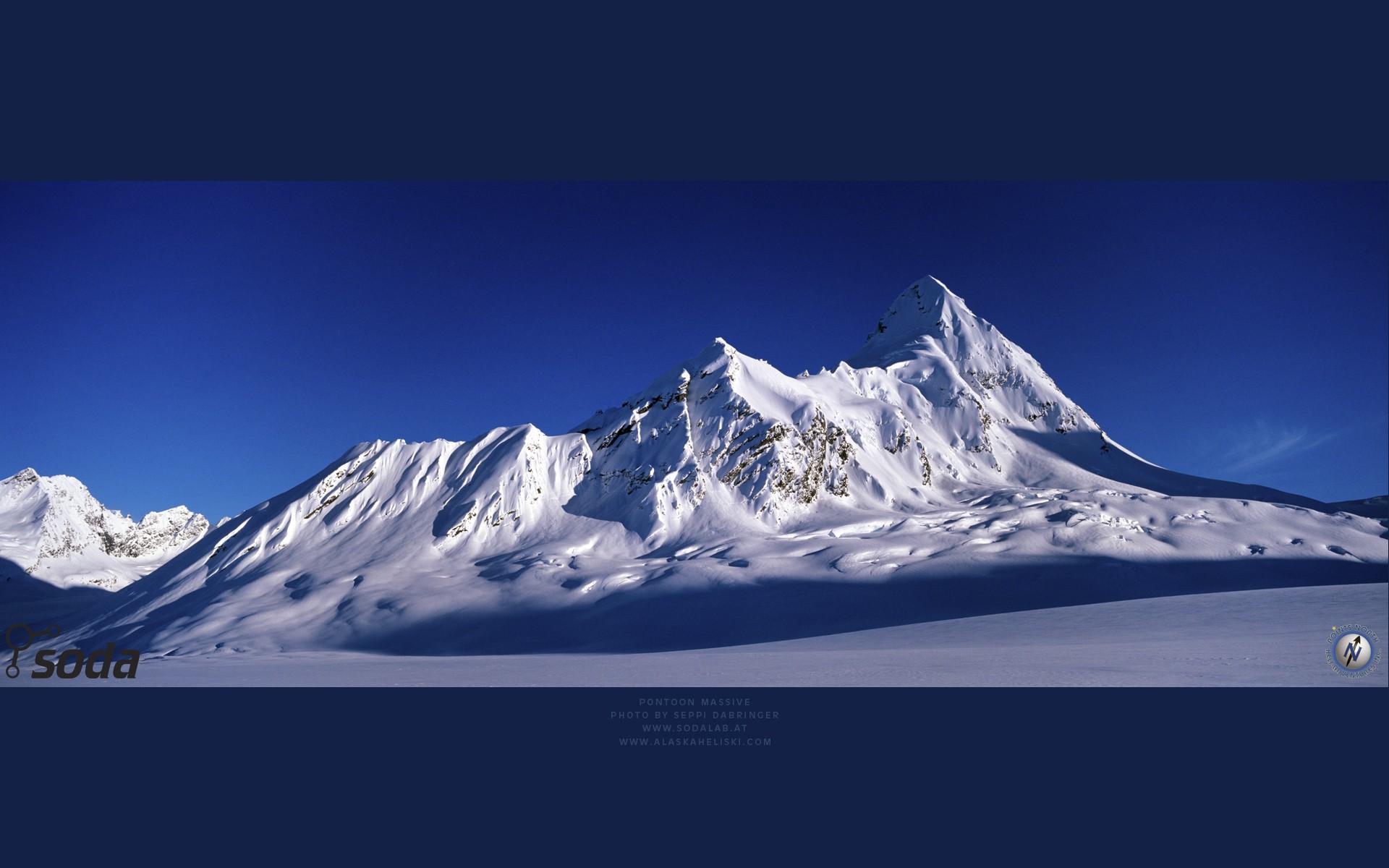 Mountains: Peak Pinnacle White Snow Mountains Glaciers Blue Ice ...