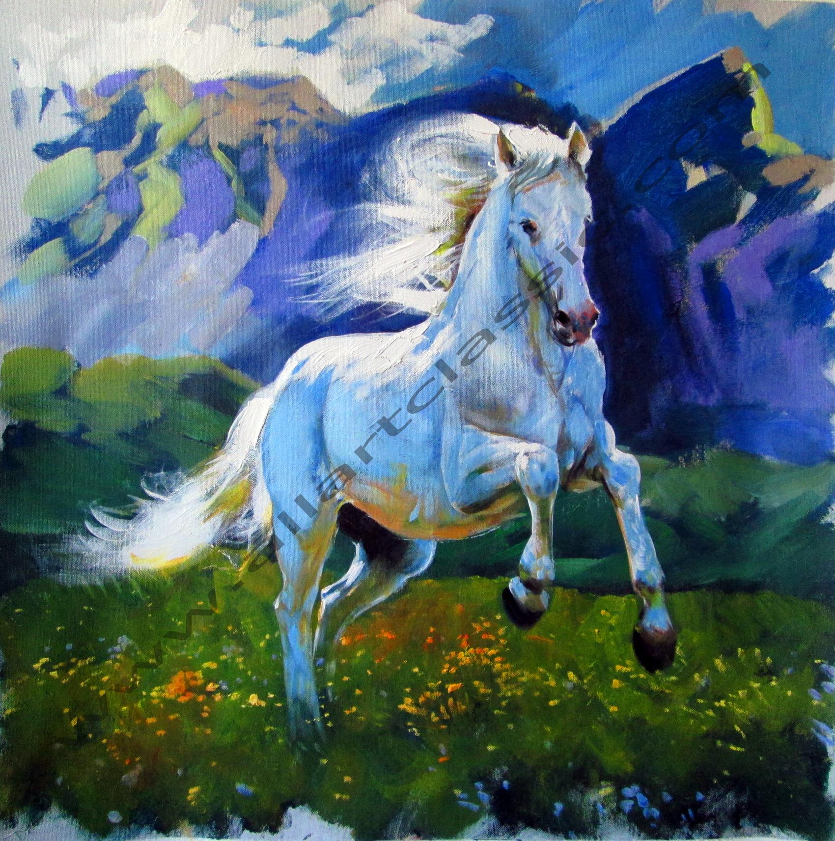 Home Interiors Painting Of Three Horses Heads
