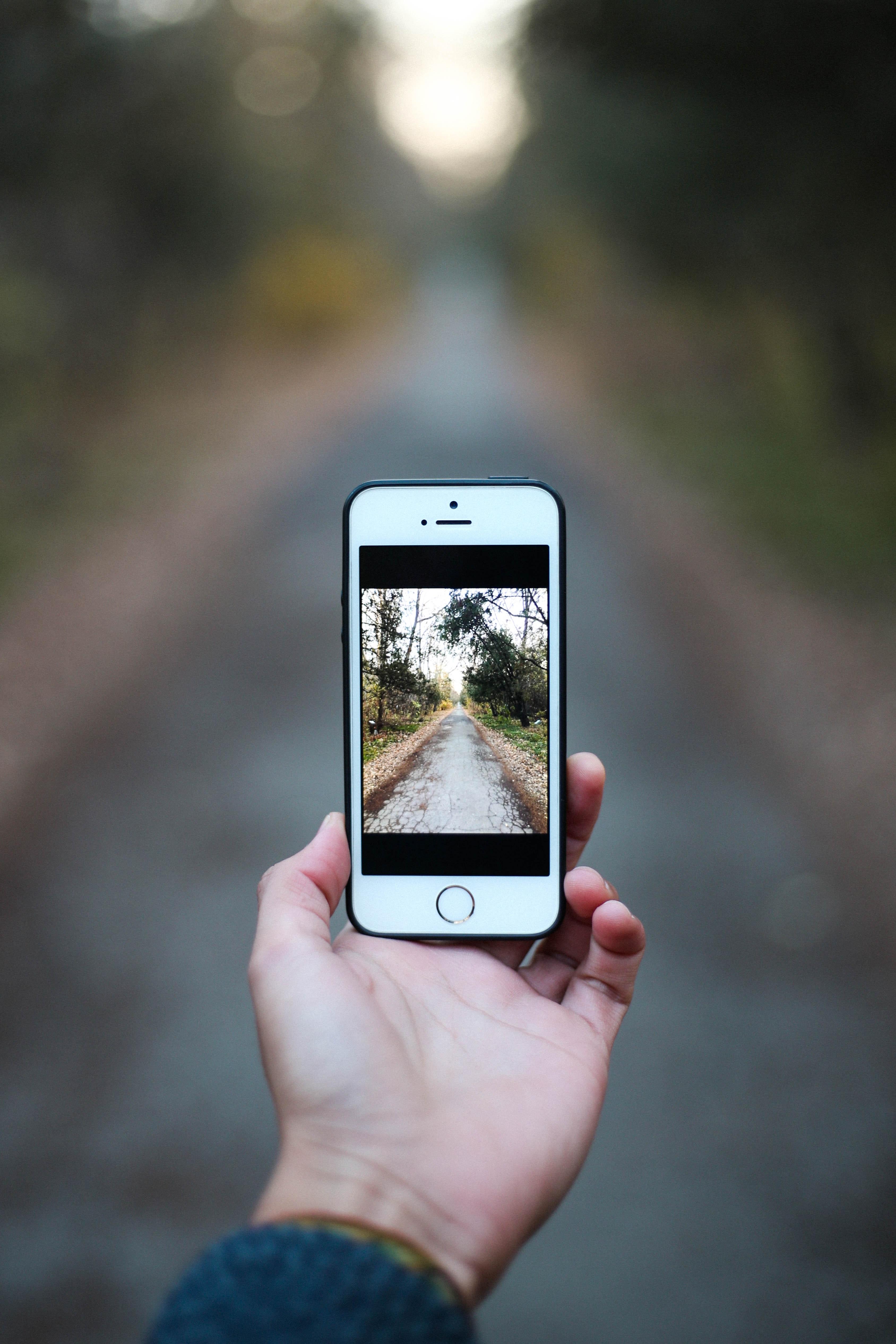 White Iphone 6 With Black Case, Blur, Screen, Modern, Multimedia, HQ Photo