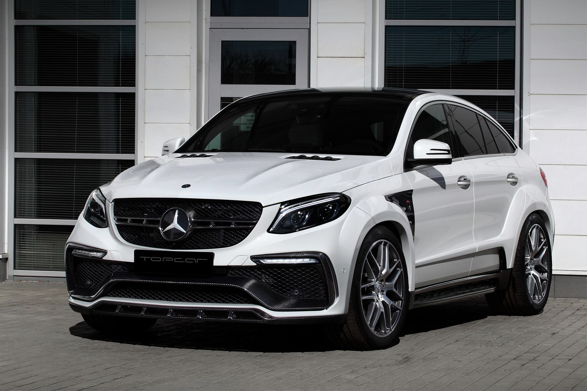 White Mercedes GLE Coupe 63S with Topcar Inferno Kit Has Carbon ...
