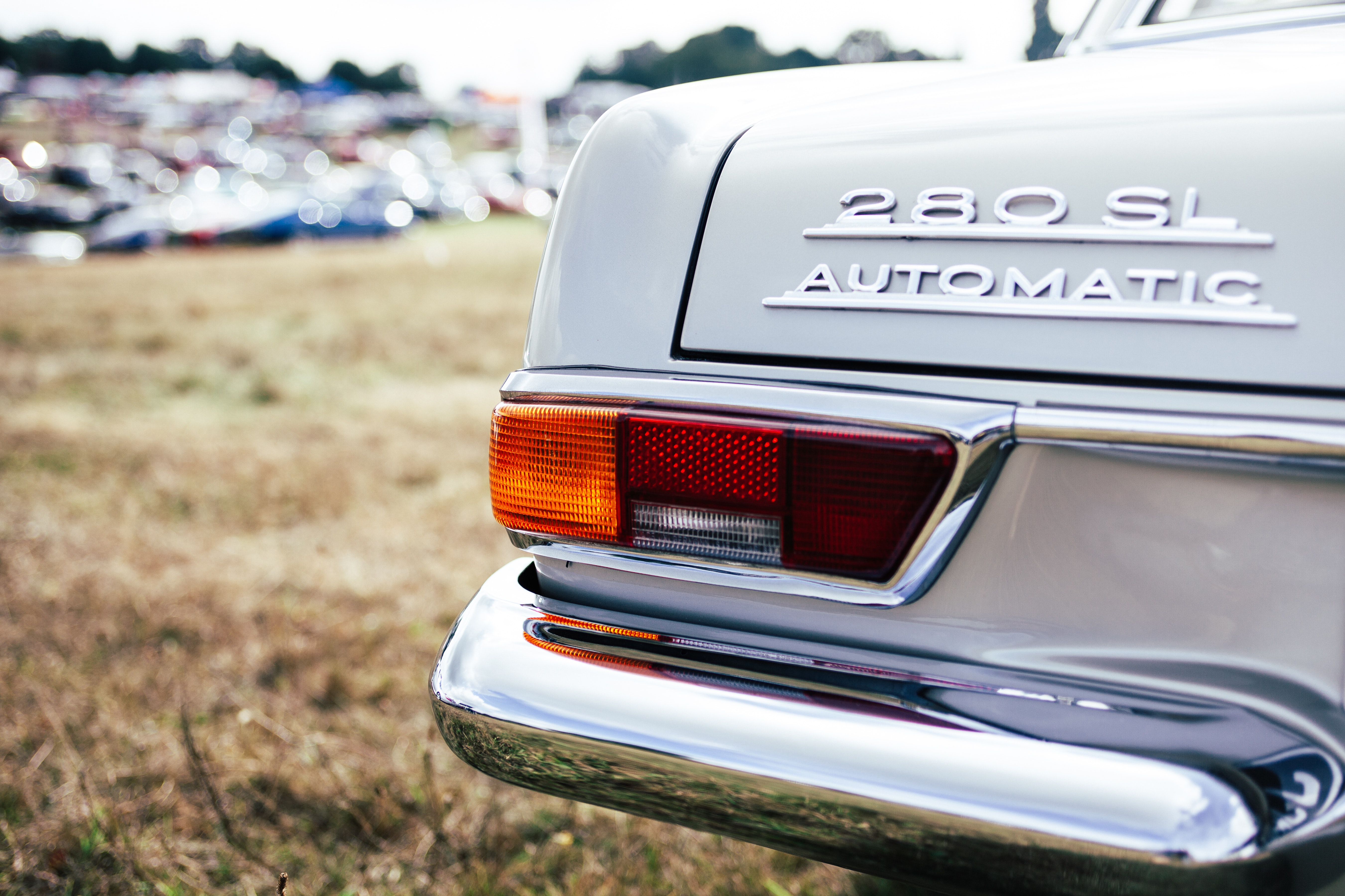 White Mercedes Benz 280 Sl Automatic, Mercedes, Vintage, Vehicle, Tail light, HQ Photo