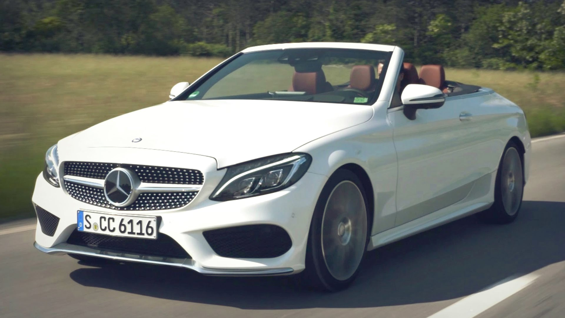 2017 Mercedes C 300 Cabriolet Diamond White Bright - YouTube