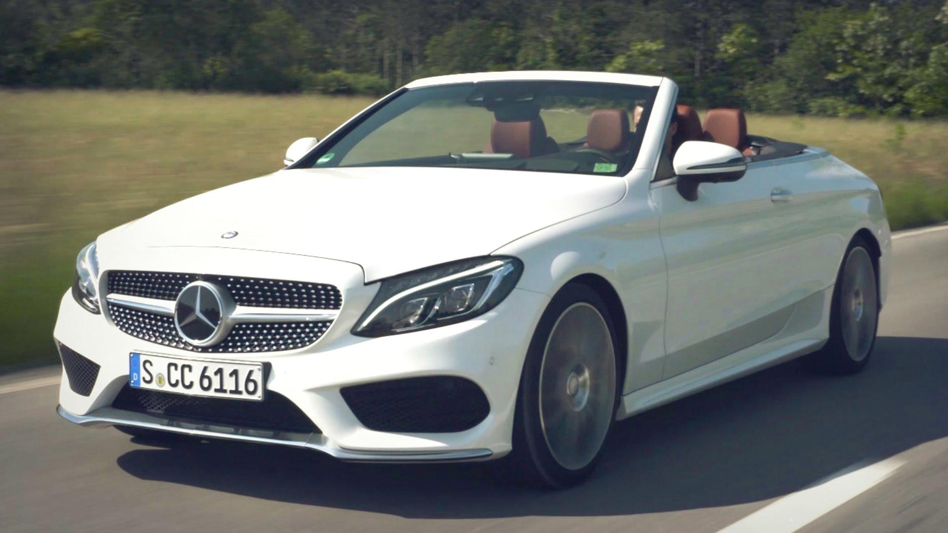 2017 Mercedes C 300 Cabriolet Diamond White Bright - YouTube