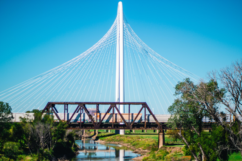 White Metal Bridge, Bridge, Daylight, Grass, Landscape, HQ Photo