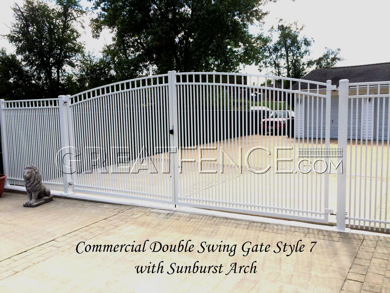 White metal fence photo