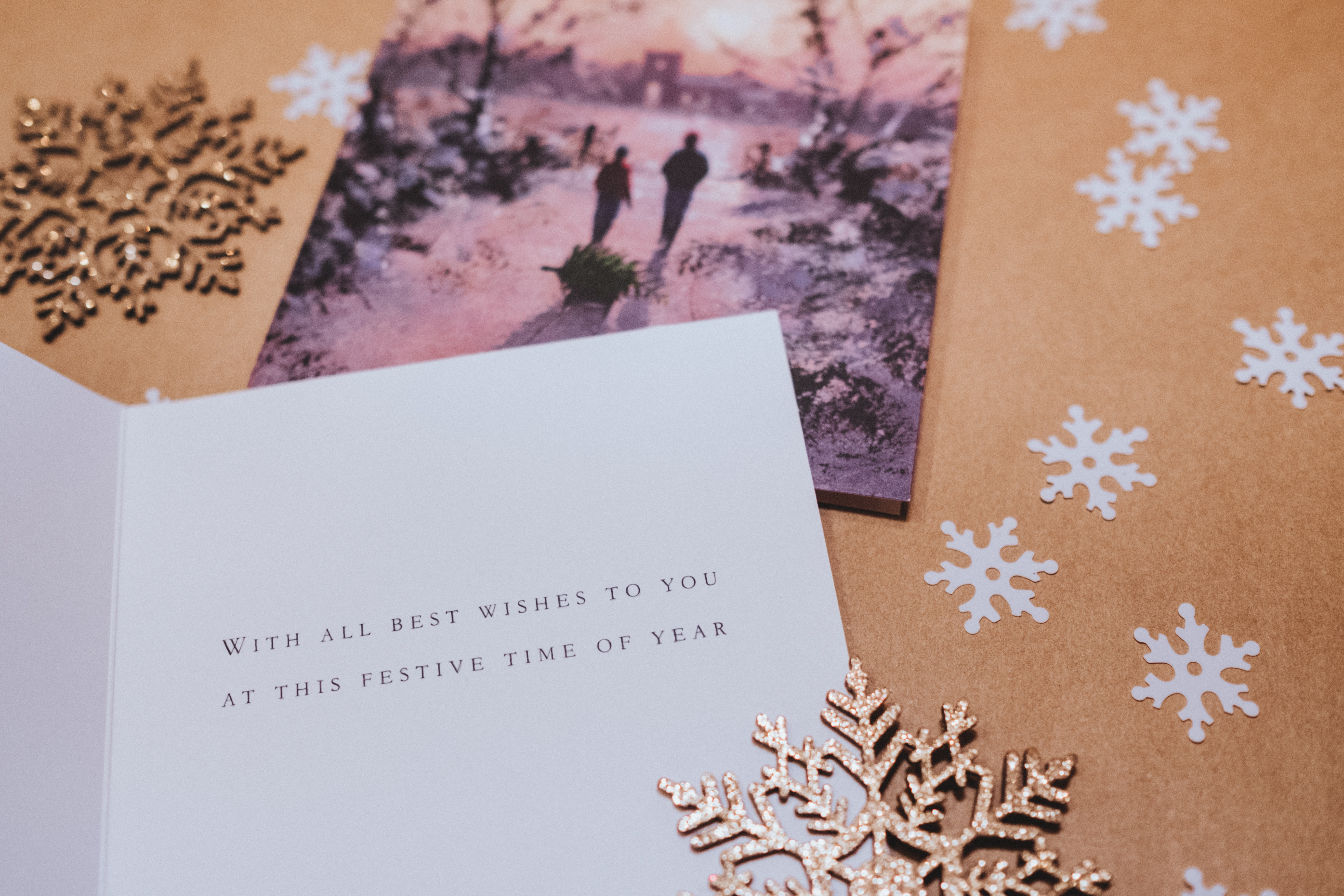 White Paper With Black Printed Text, Card, Paper, Write, Winter, HQ Photo
