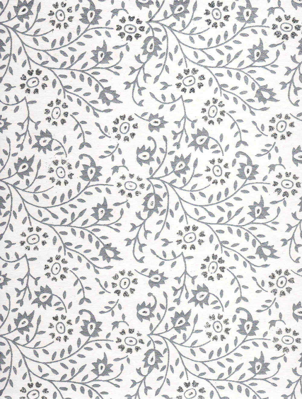 White paper with silver pattern photo