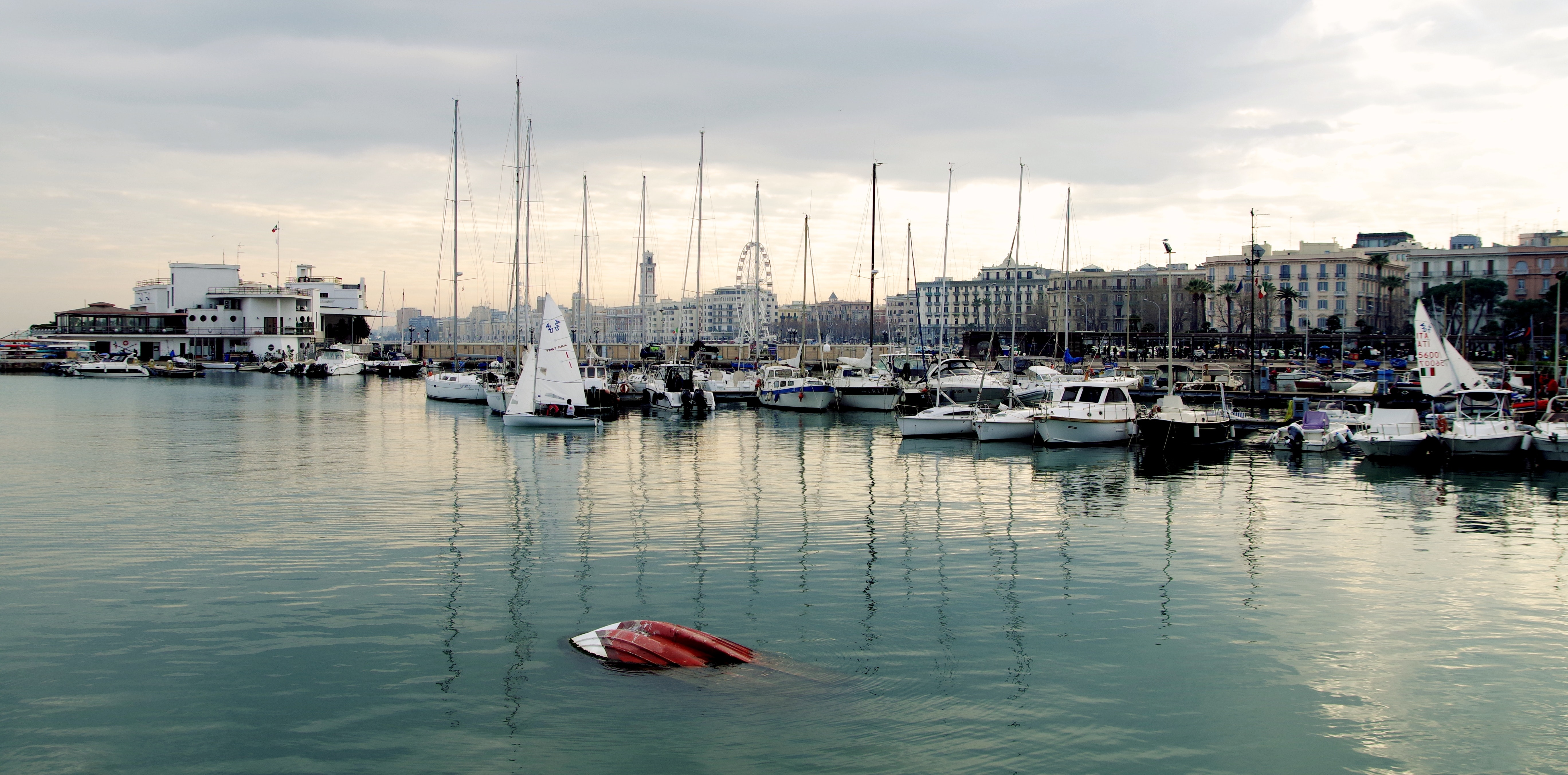 White power boat and yacht parked on body of water photo
