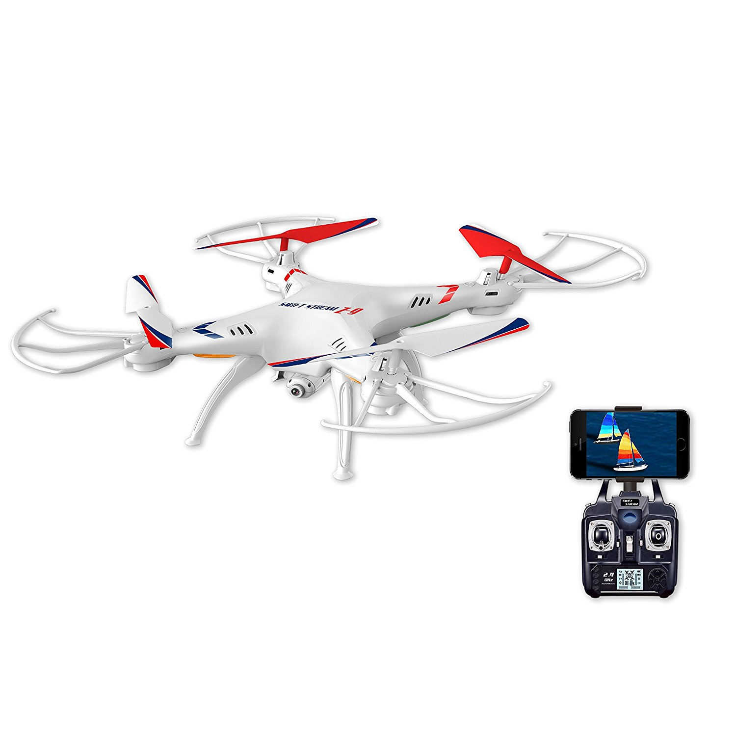 Amazon.com: Swift Stream Z-9 Camera Drone, White: Toys & Games