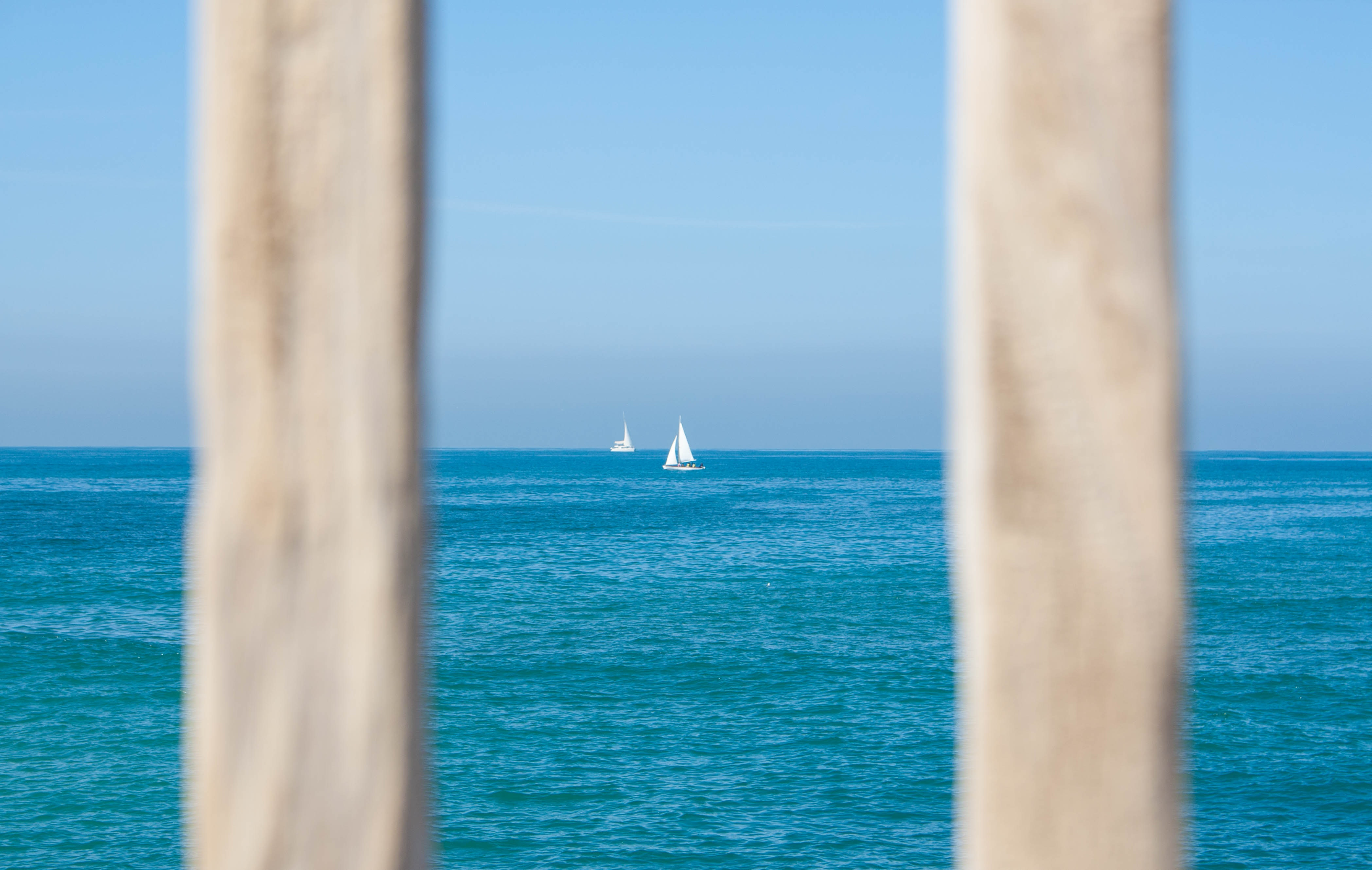 White sailing boat on body of water photo