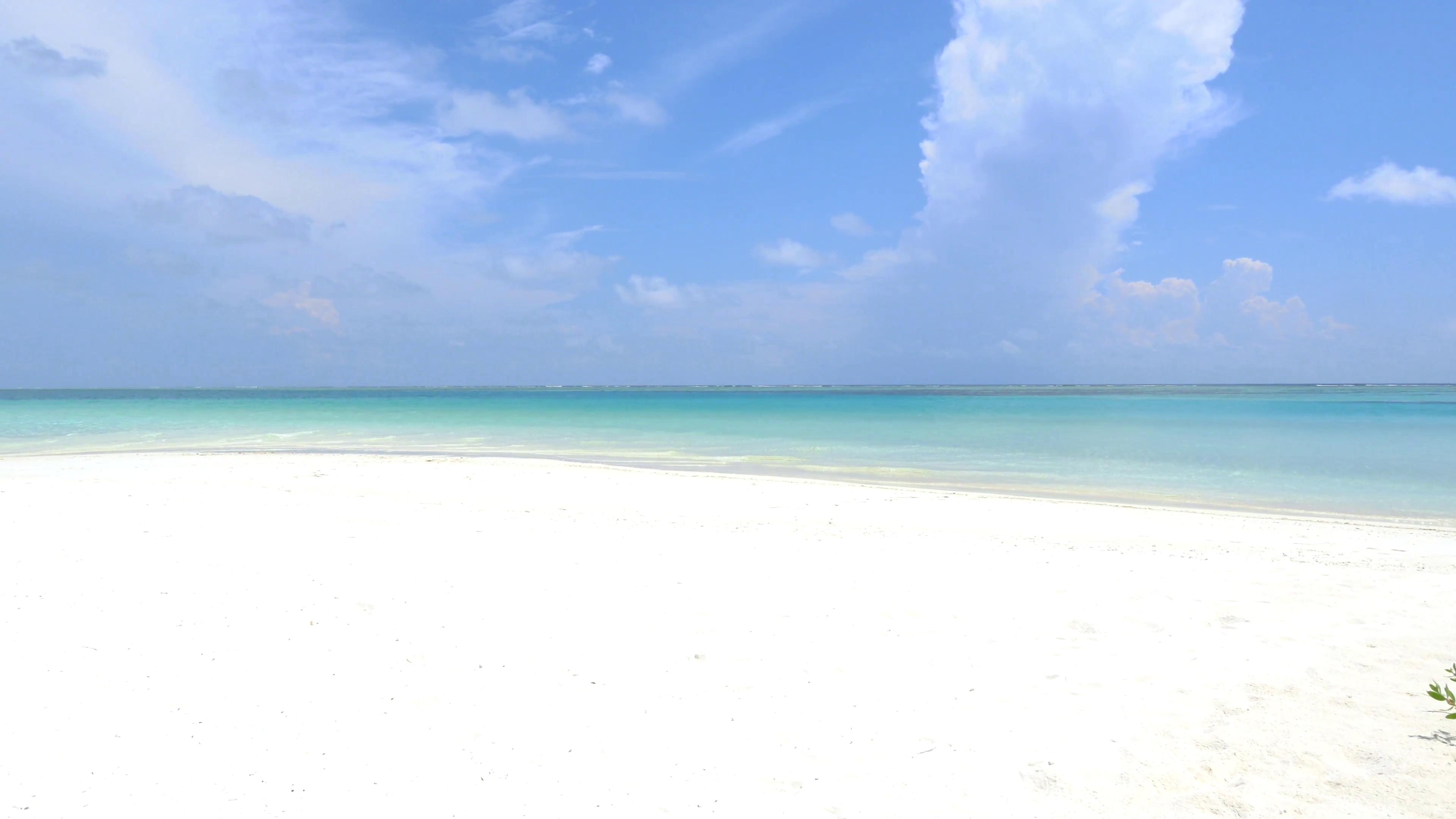 White Sandy Beach Blue Ocean
