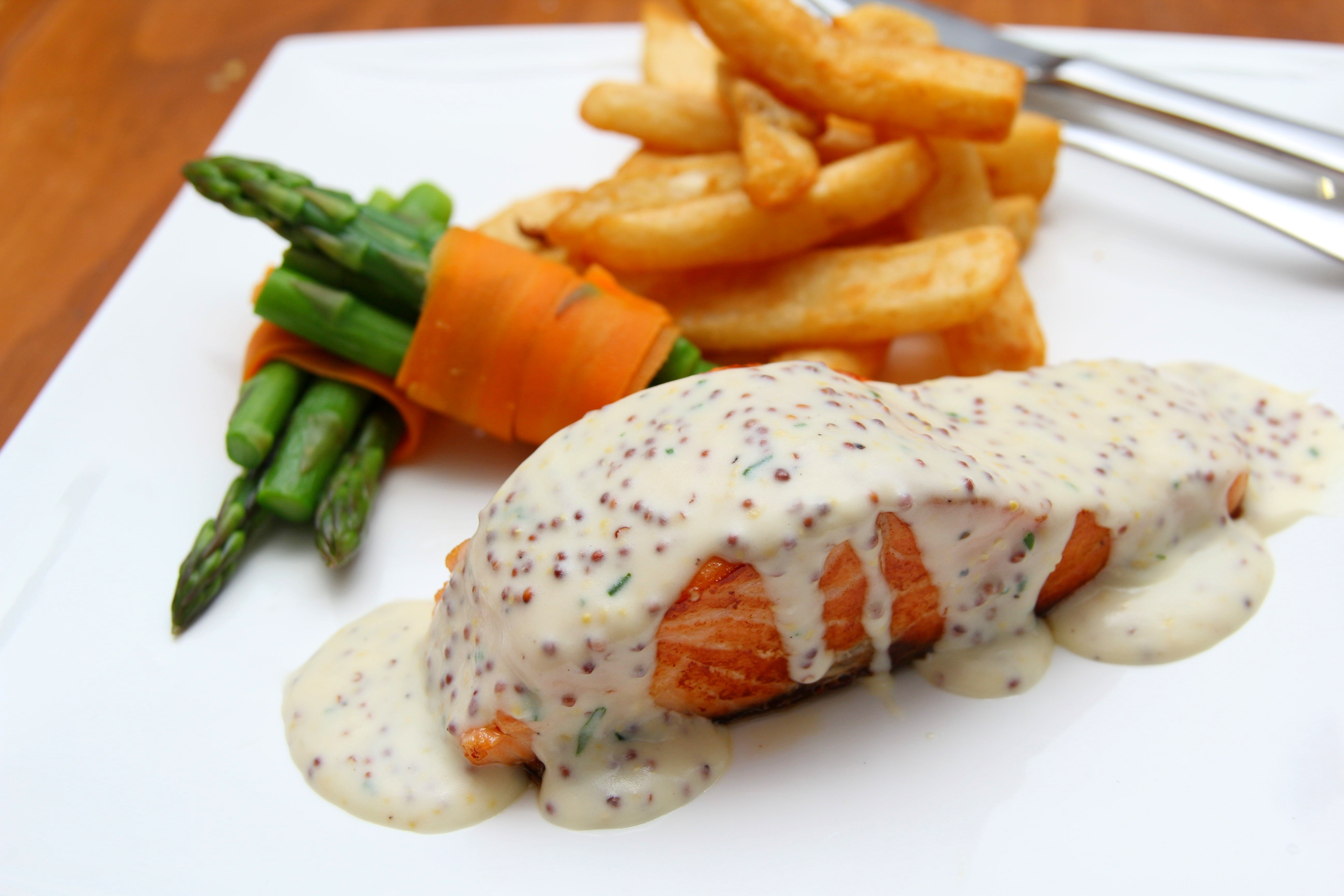 White Sauce Toppings on Food, Calories, Fries, Restaurant, Meal, HQ Photo