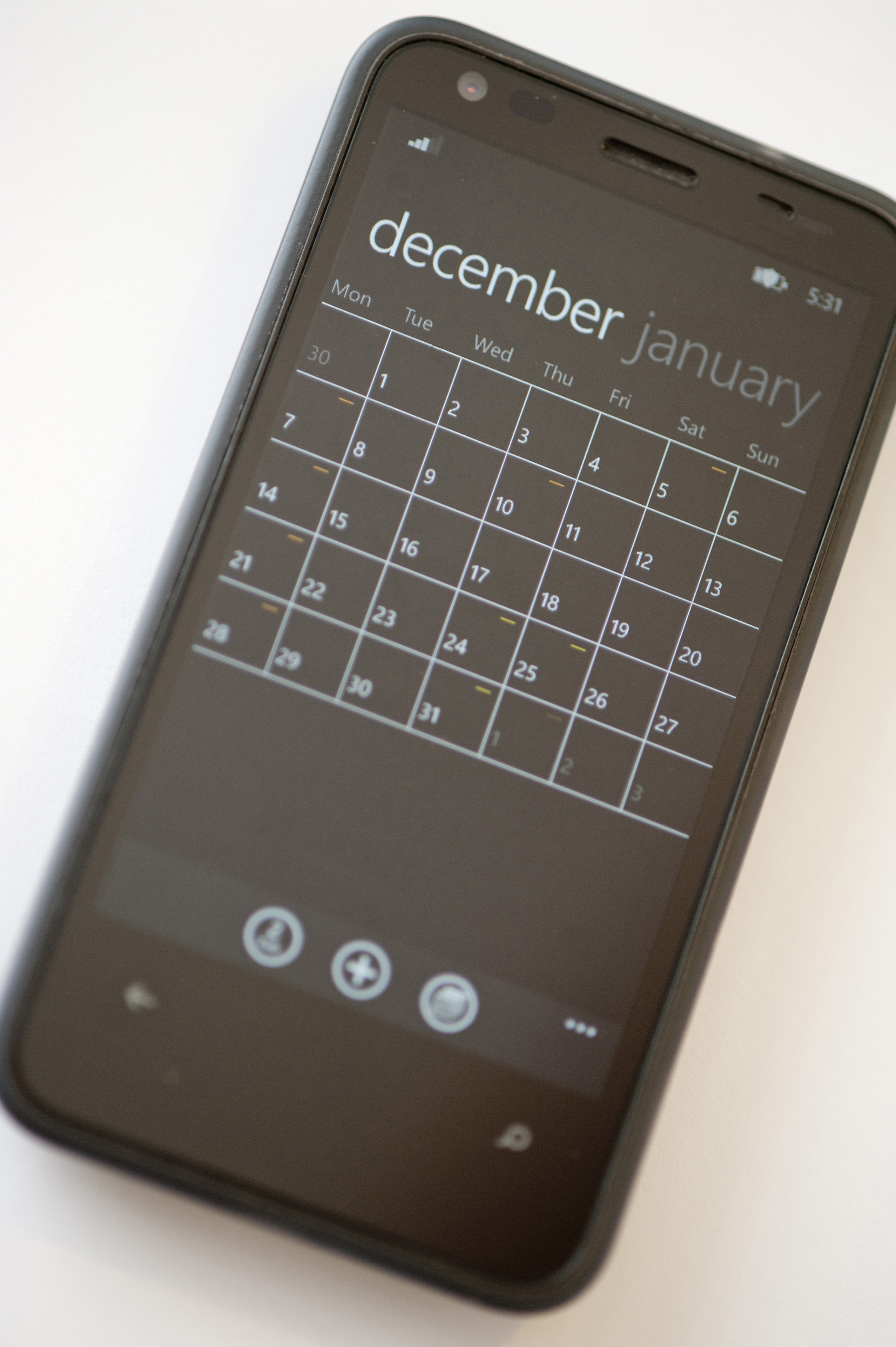Image of Agenda Application on a Black Mobile Phone | Freebie ...