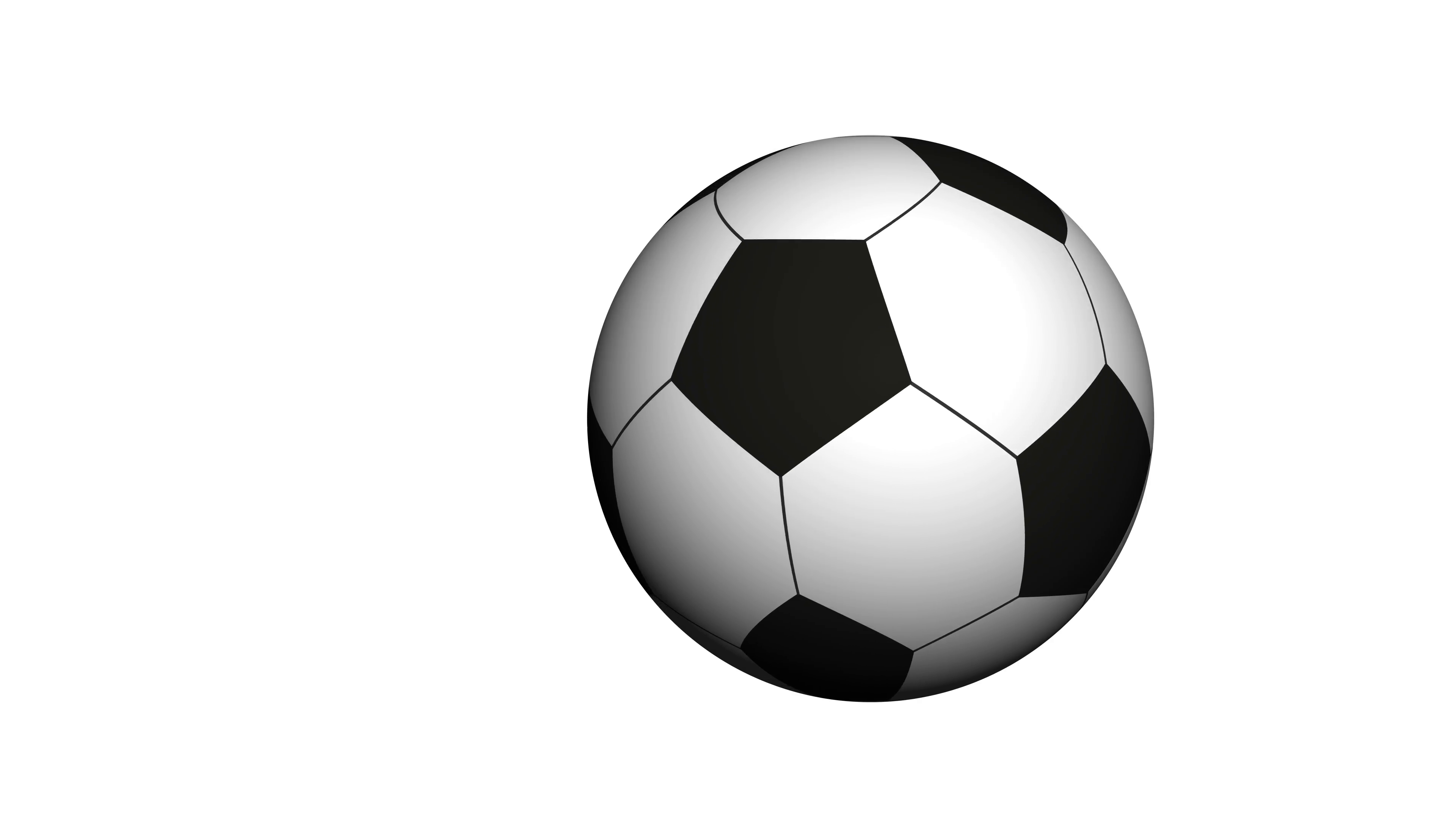 Soccer ball rotating on white background. Video animation. Seamless ...