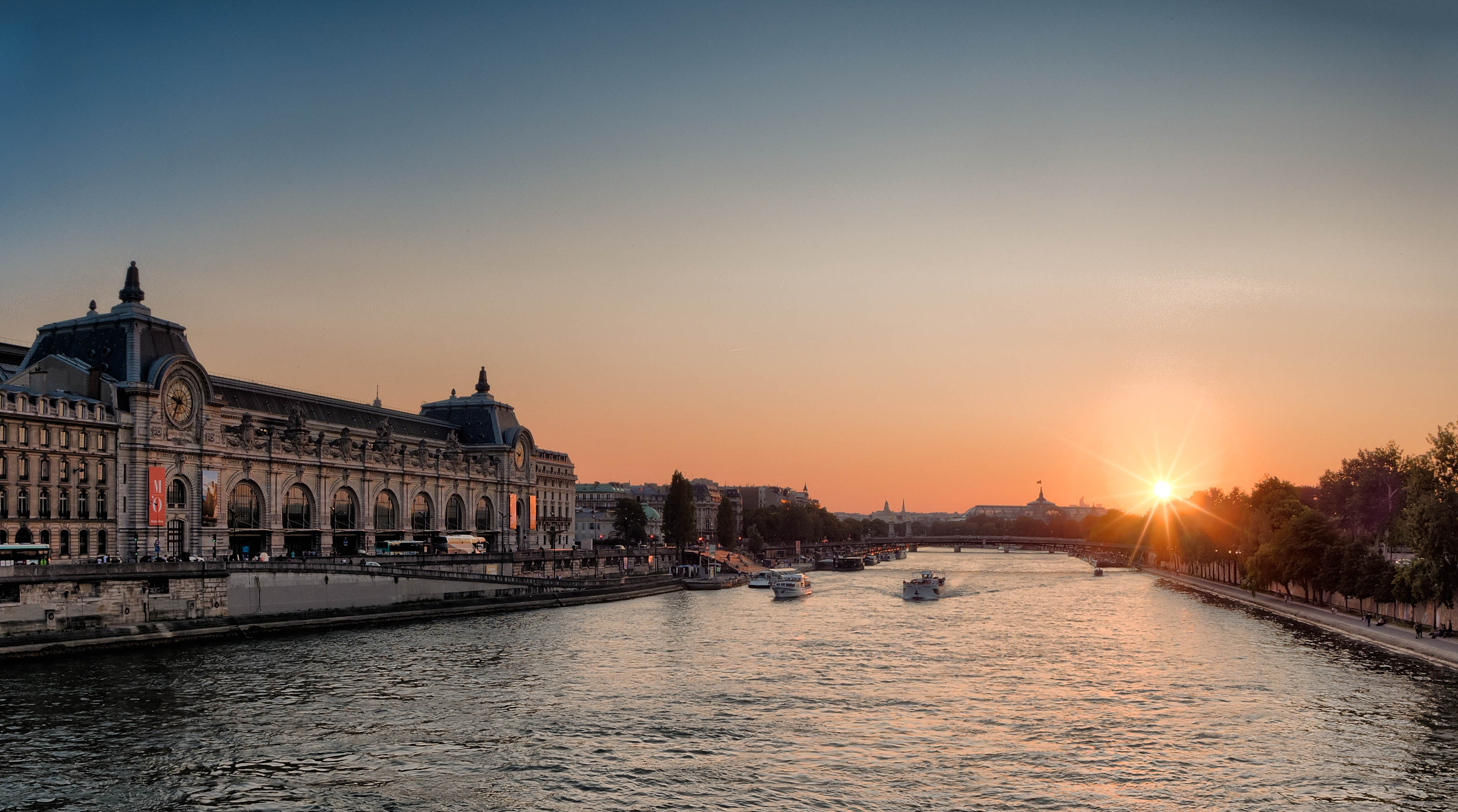 White Speed Boat on River during Sunset, Architecture, Building, City, Dawn, HQ Photo