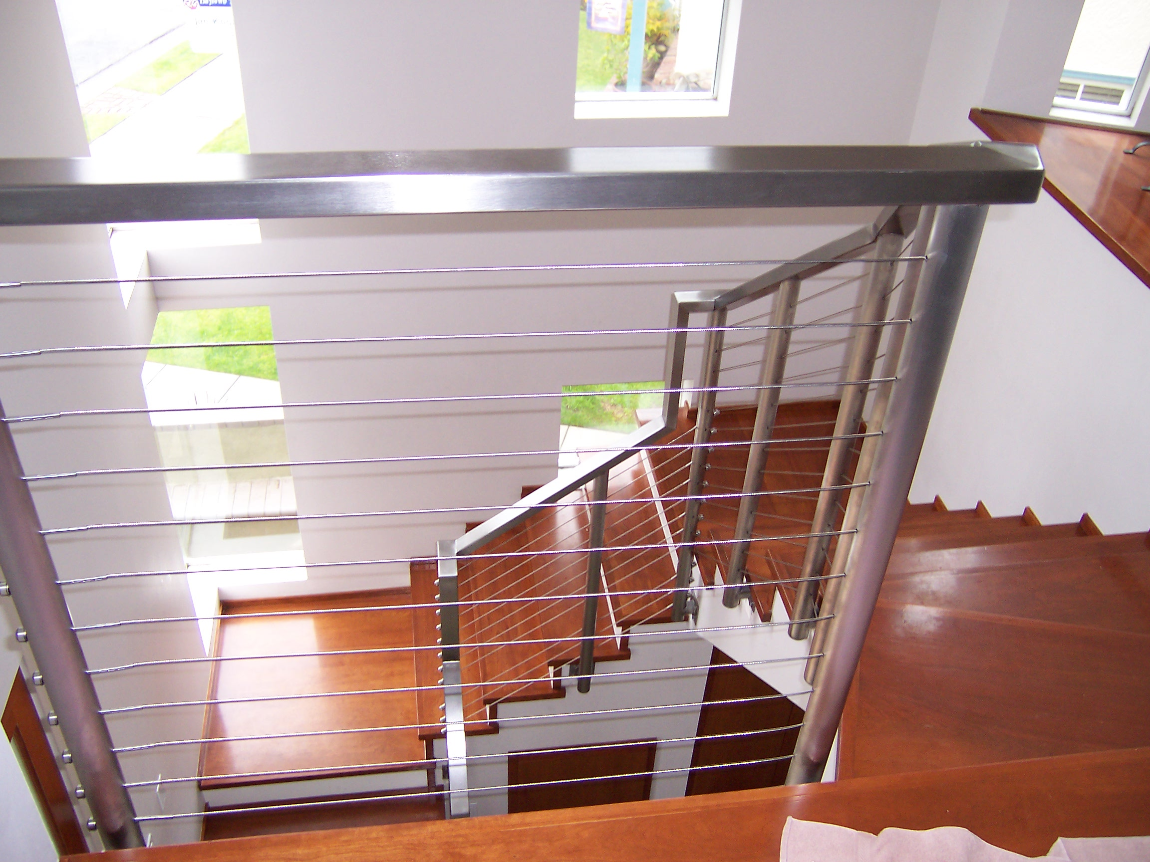 Natural Elegant Design Of The Banister Rails Metal That Has Wooden ...